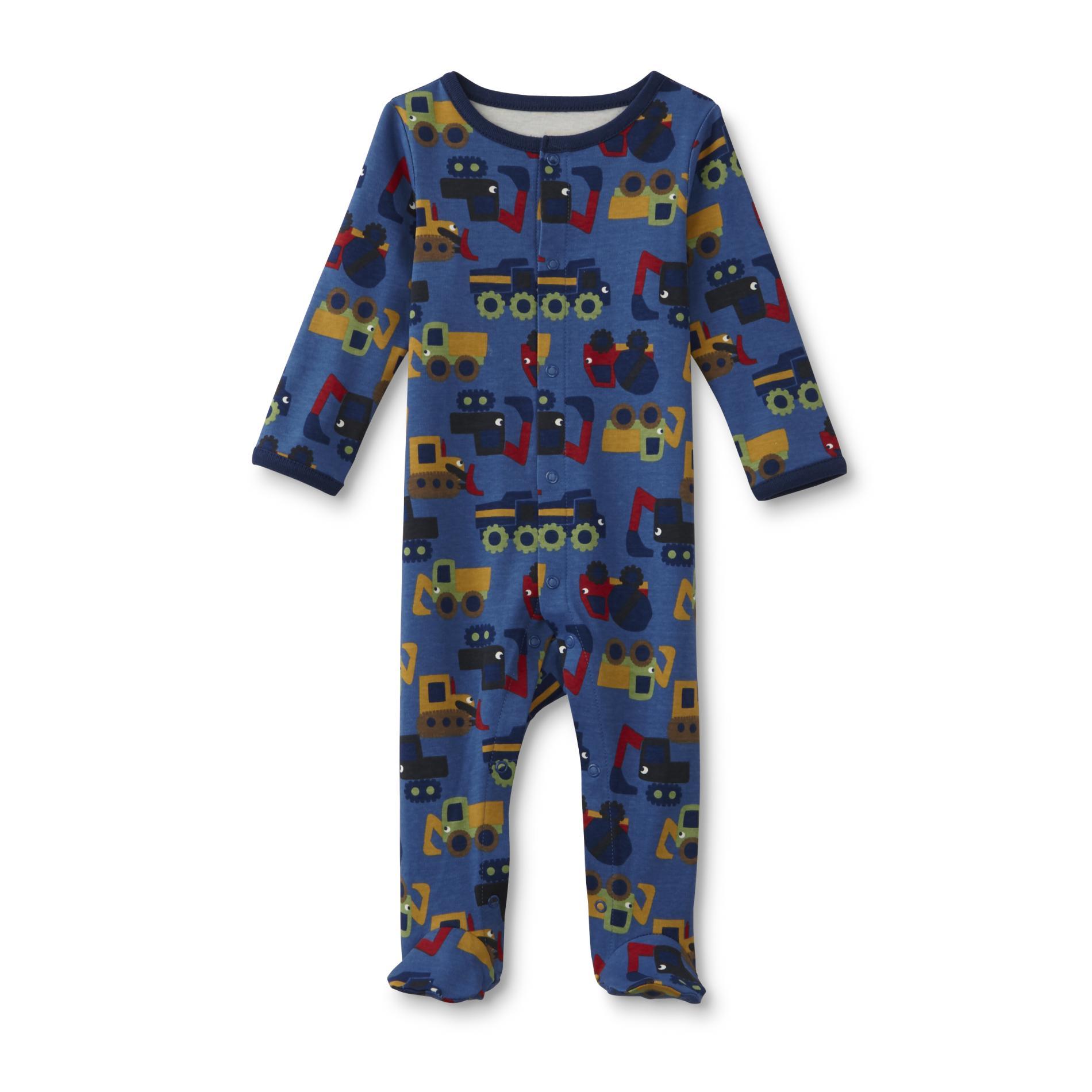 Newborn Boy's Footed Pajamas - Construction