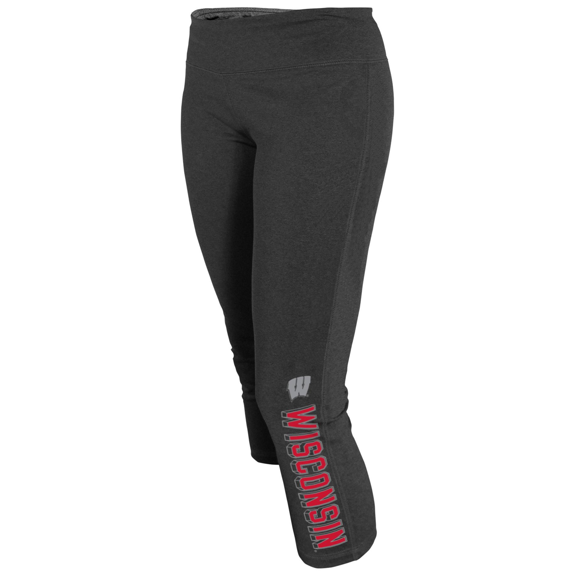 NCAA Women's Capri Yoga Pants - Wisconsin Badgers