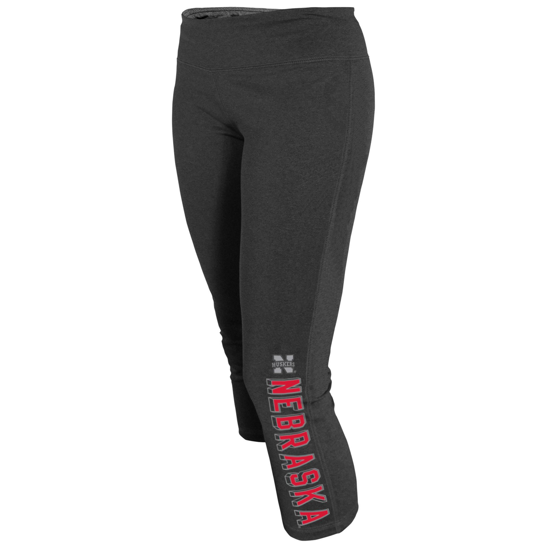 NCAA Women's Capri Yoga Pants - Nebraska Cornhuskers