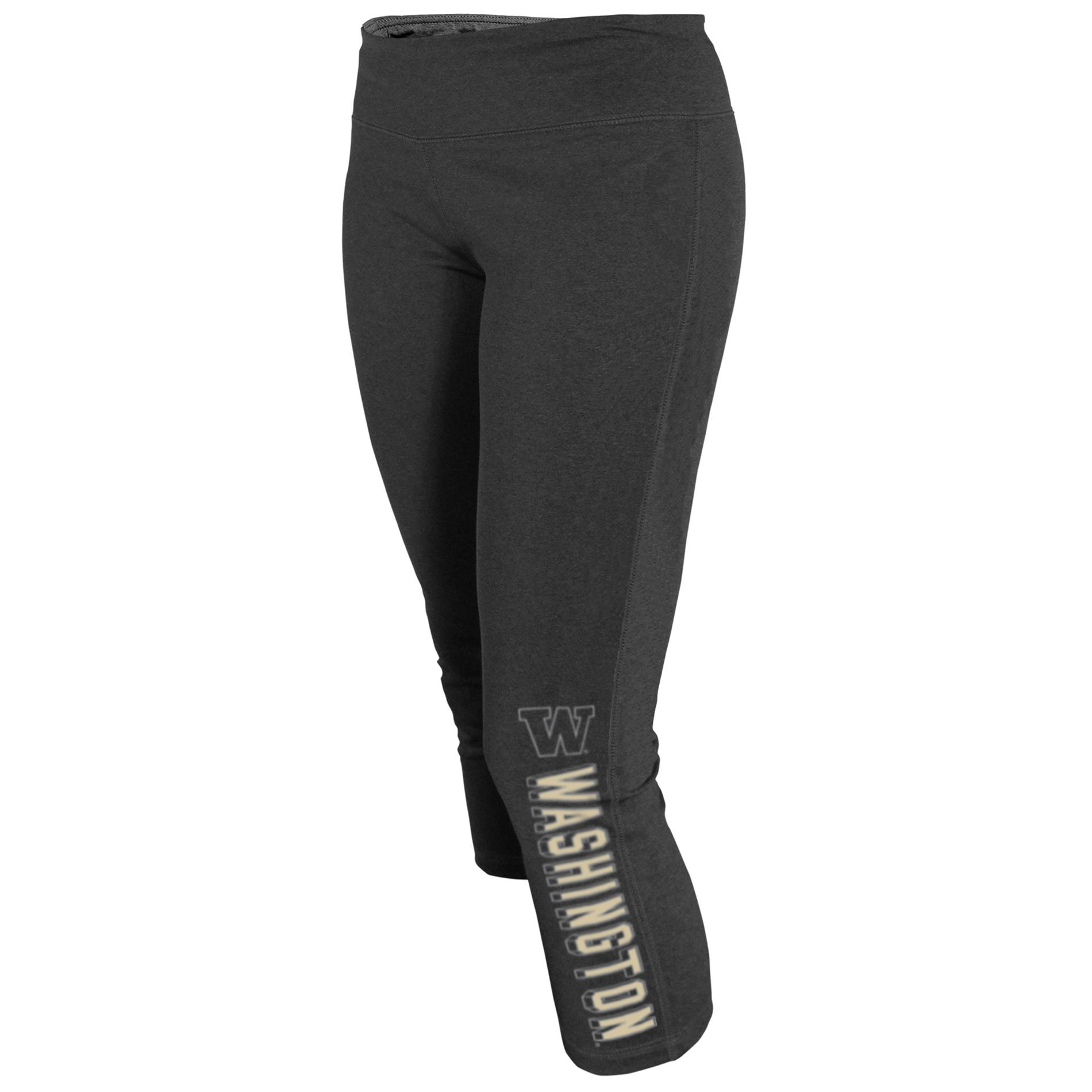 NCAA Women's Capri Yoga Pants - Washington Huskies