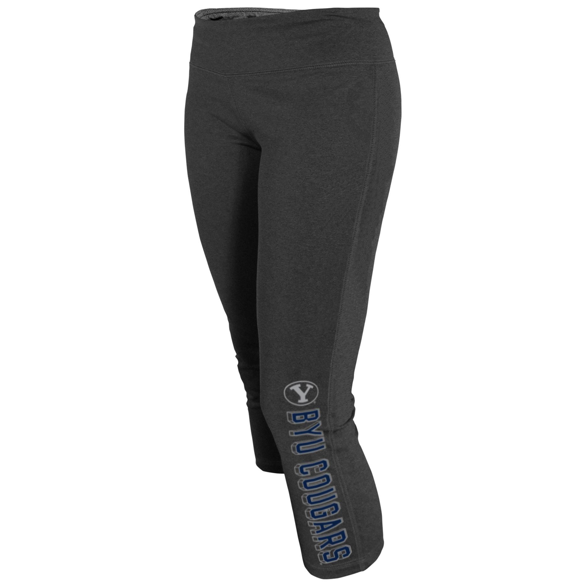 NCAA Women's Capri Yoga Pants - Brigham Young Cougars