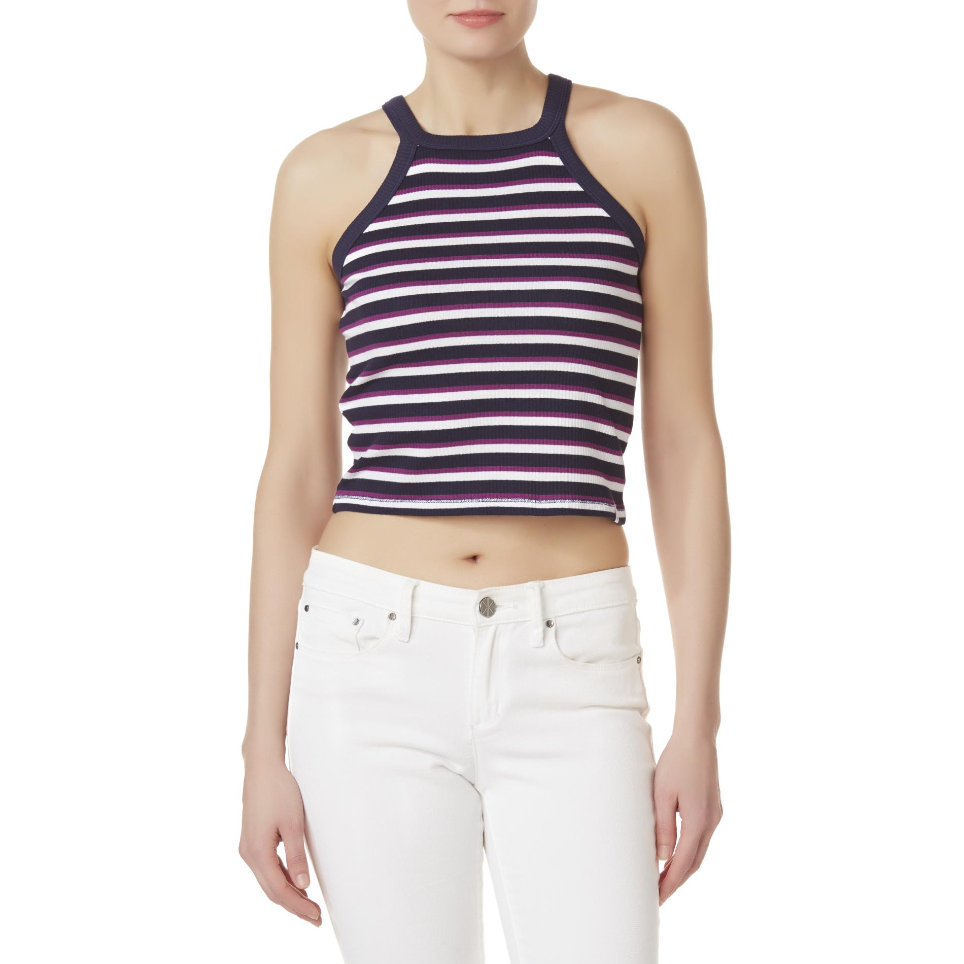 U.S. Polo Assn. Juniors' Cropped Tank Top - Striped PartNumber: A017210916 MfgPartNumber: 26-1094-ZM