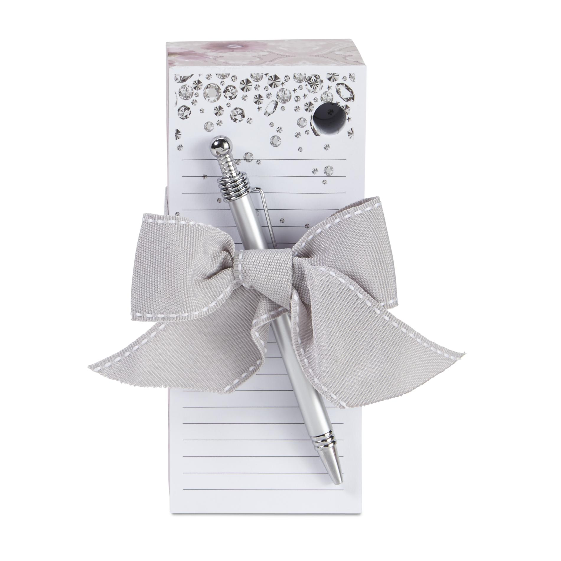 Image of 1136-20139 Notepad & Pen - Jewels & Flowers, Multi Color