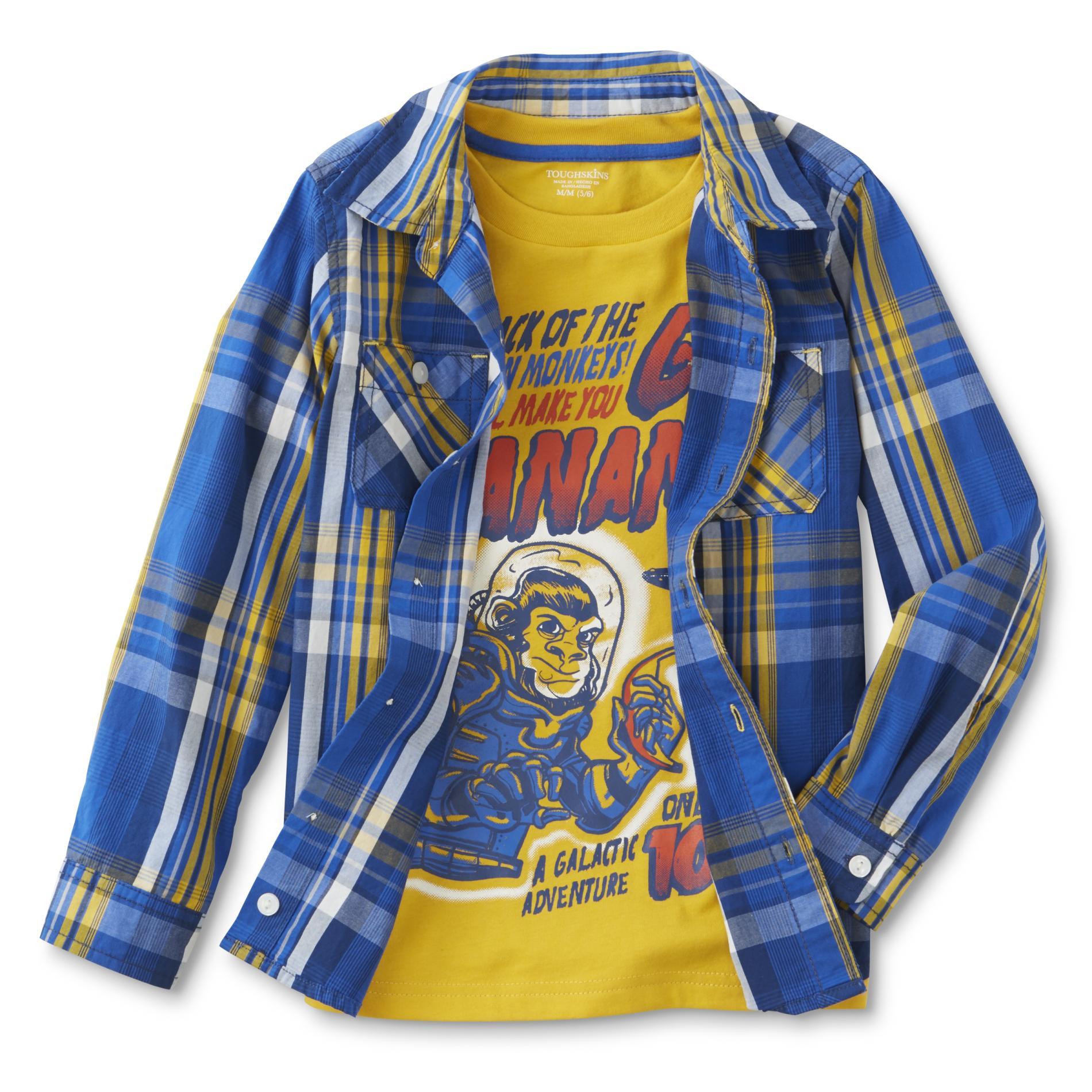 Infant & Toddler Boy's T-Shirt & Button-Front Shirt - Monkey