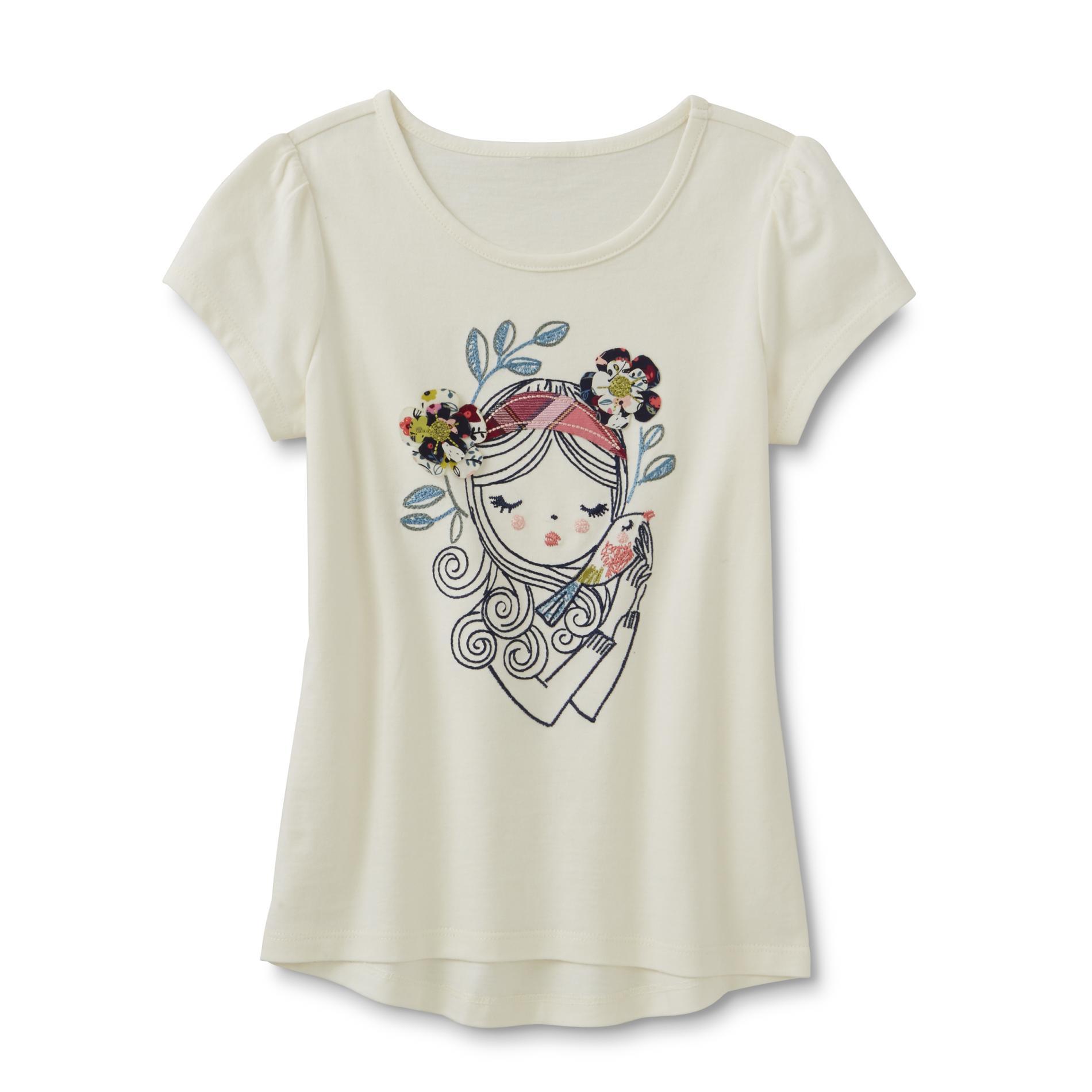 Girl's Embellished T-Shirt - Free Spirit