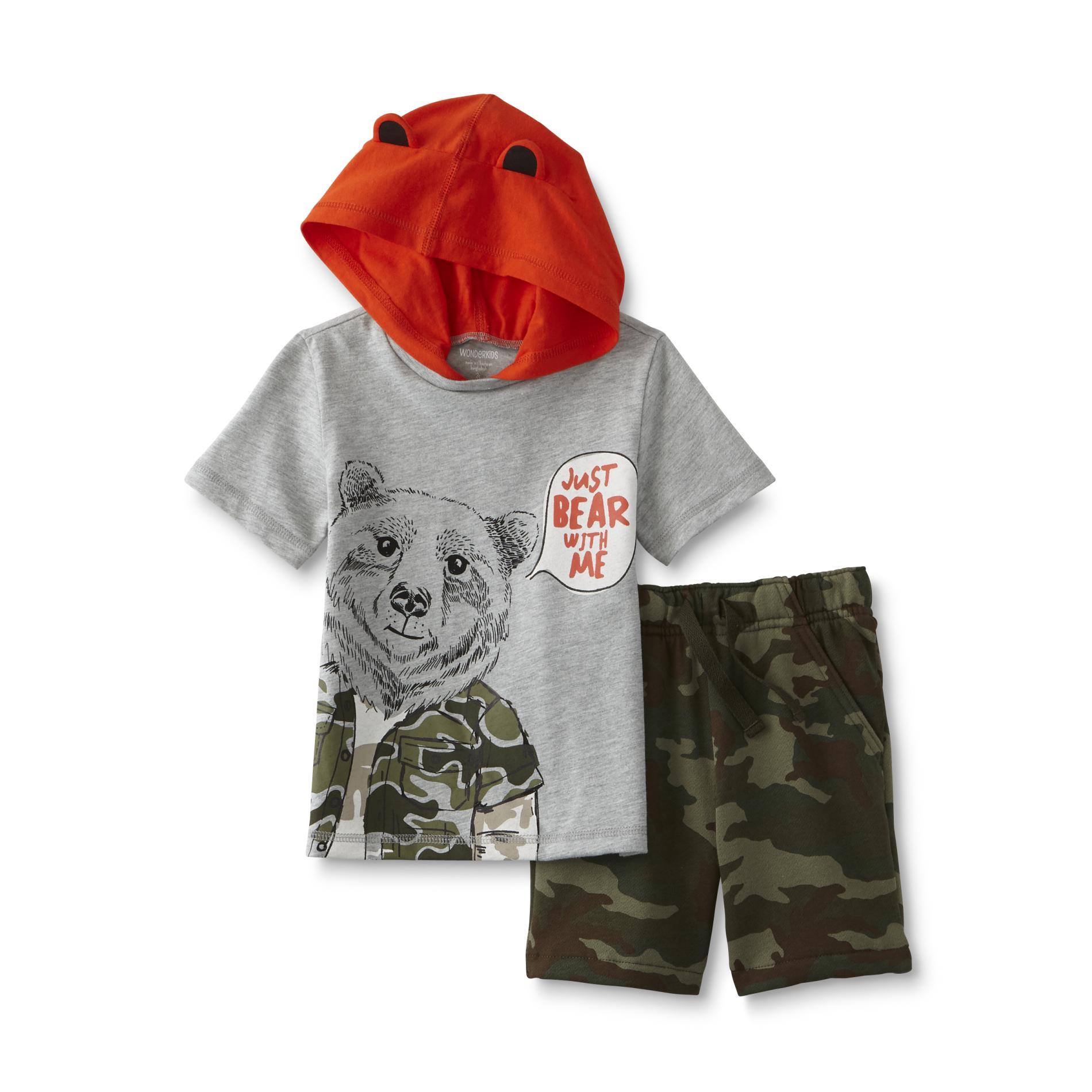 WonderKids Infant & Toddler Boy's T-Shirt & Shorts - Camo