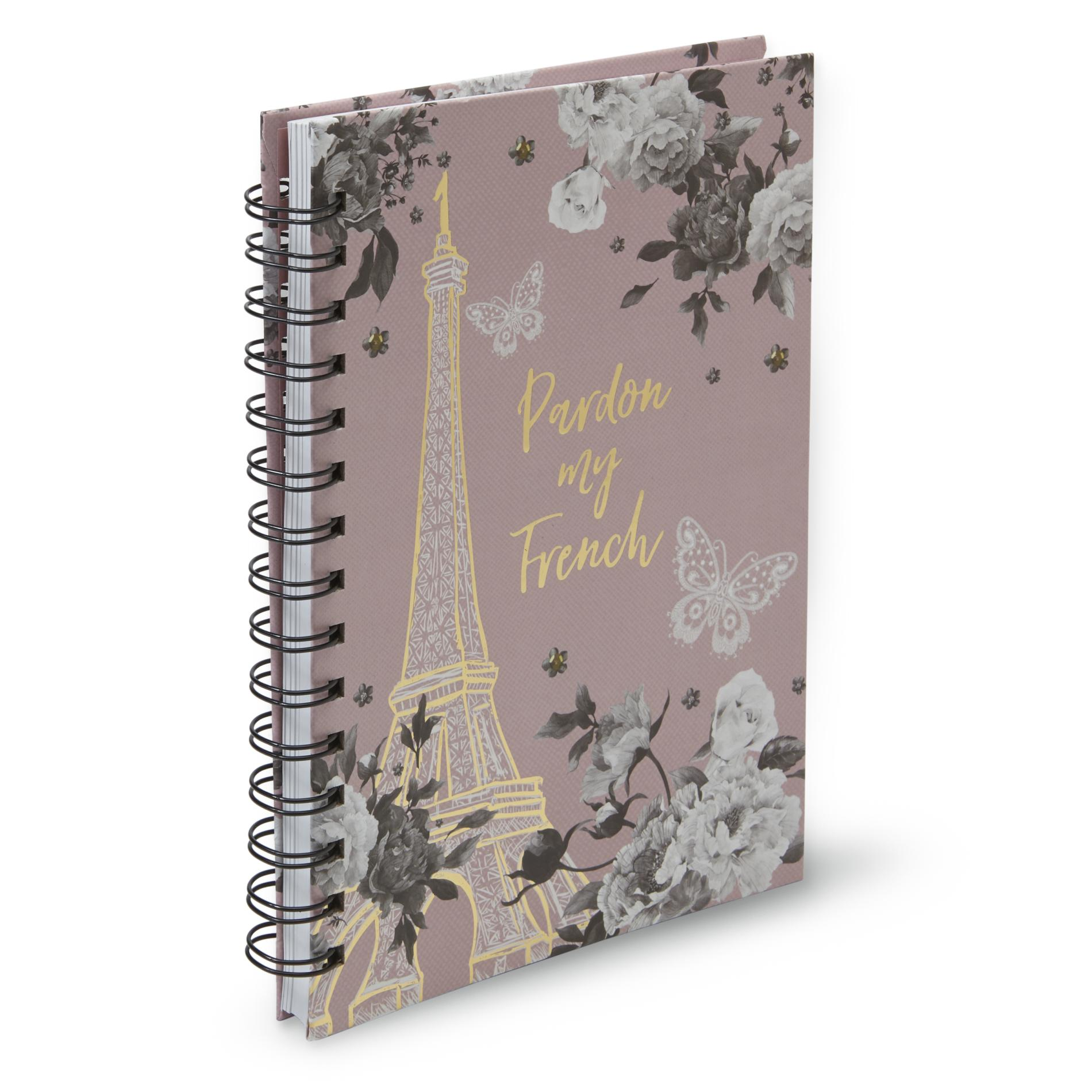 Image of 005T-69525 Spiral Notebook - Pardon My French, Multi Color