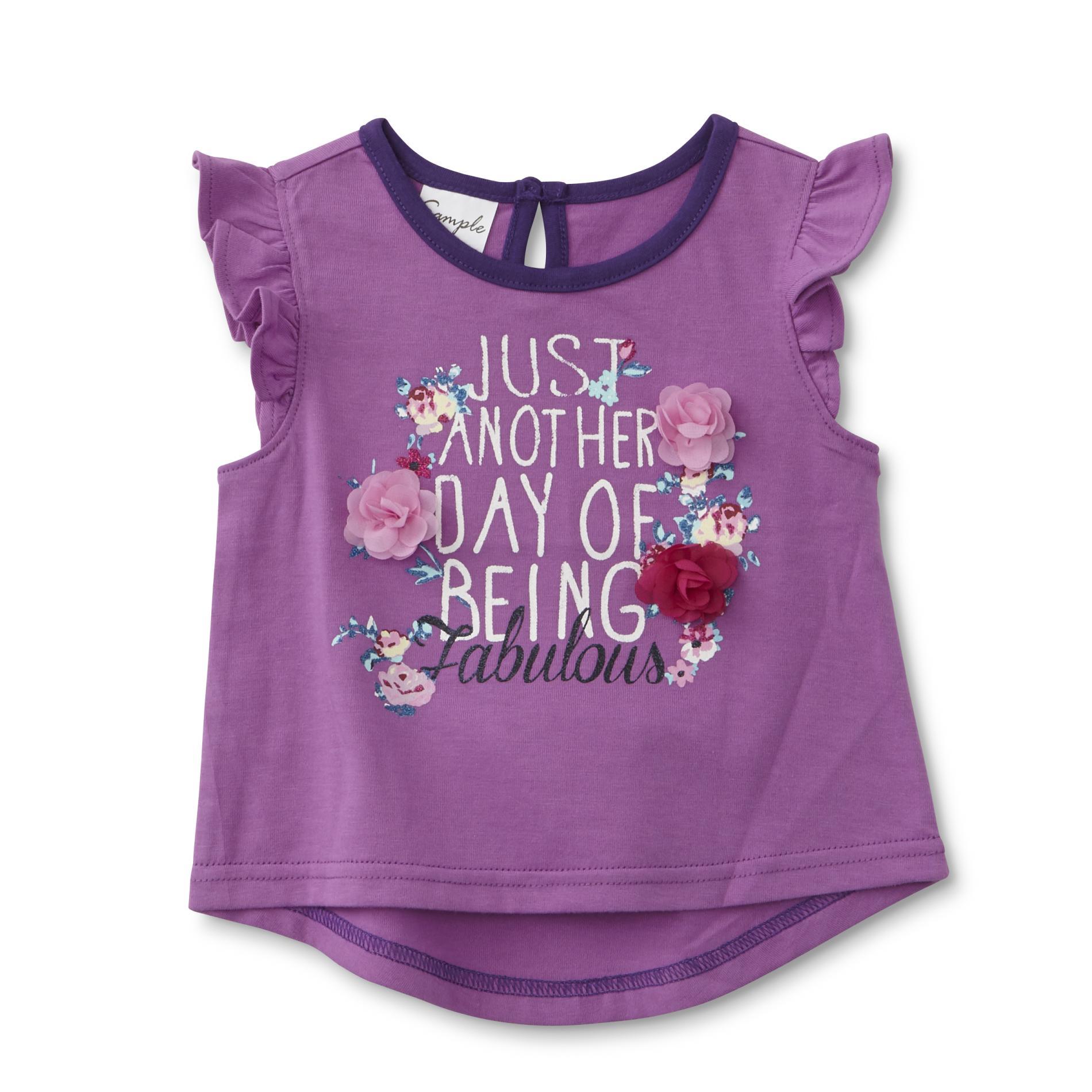 Infant & Toddler Girl's Flutter Sleeve Top - Floral