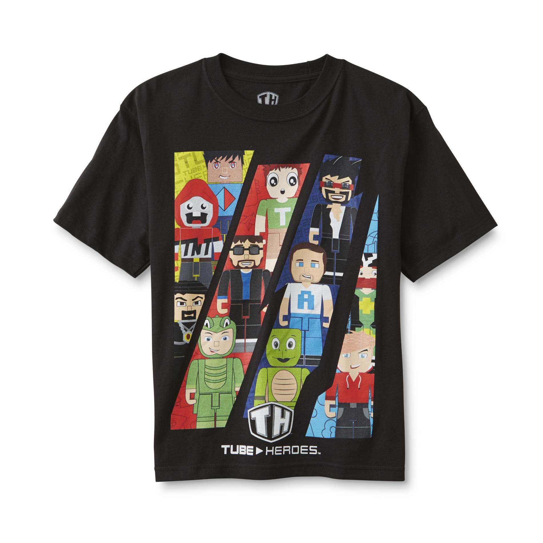 JAZWARES Tube Heroes Boy's Graphic T-Shirt 049VA89300612P