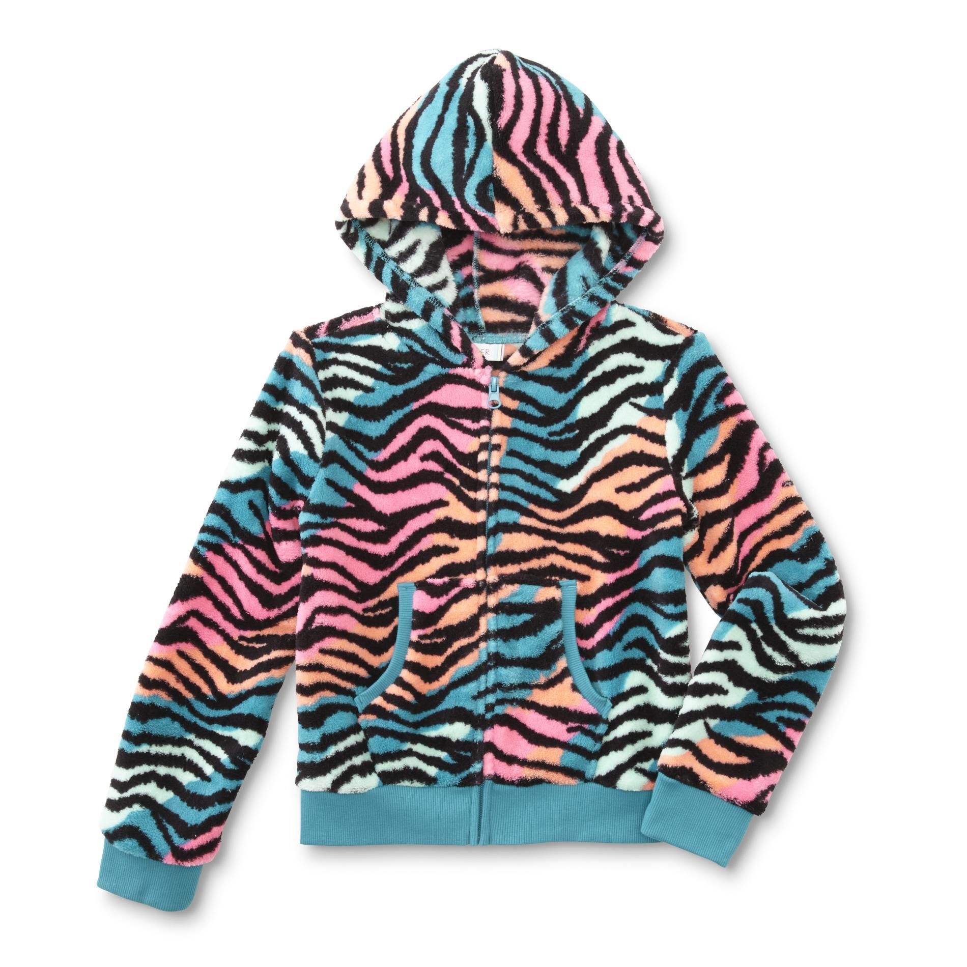Piper Girl's Plush Hoodie Jacket - Zebra Print PartNumber: 049VA89401512P MfgPartNumber: GF6PP31001BG