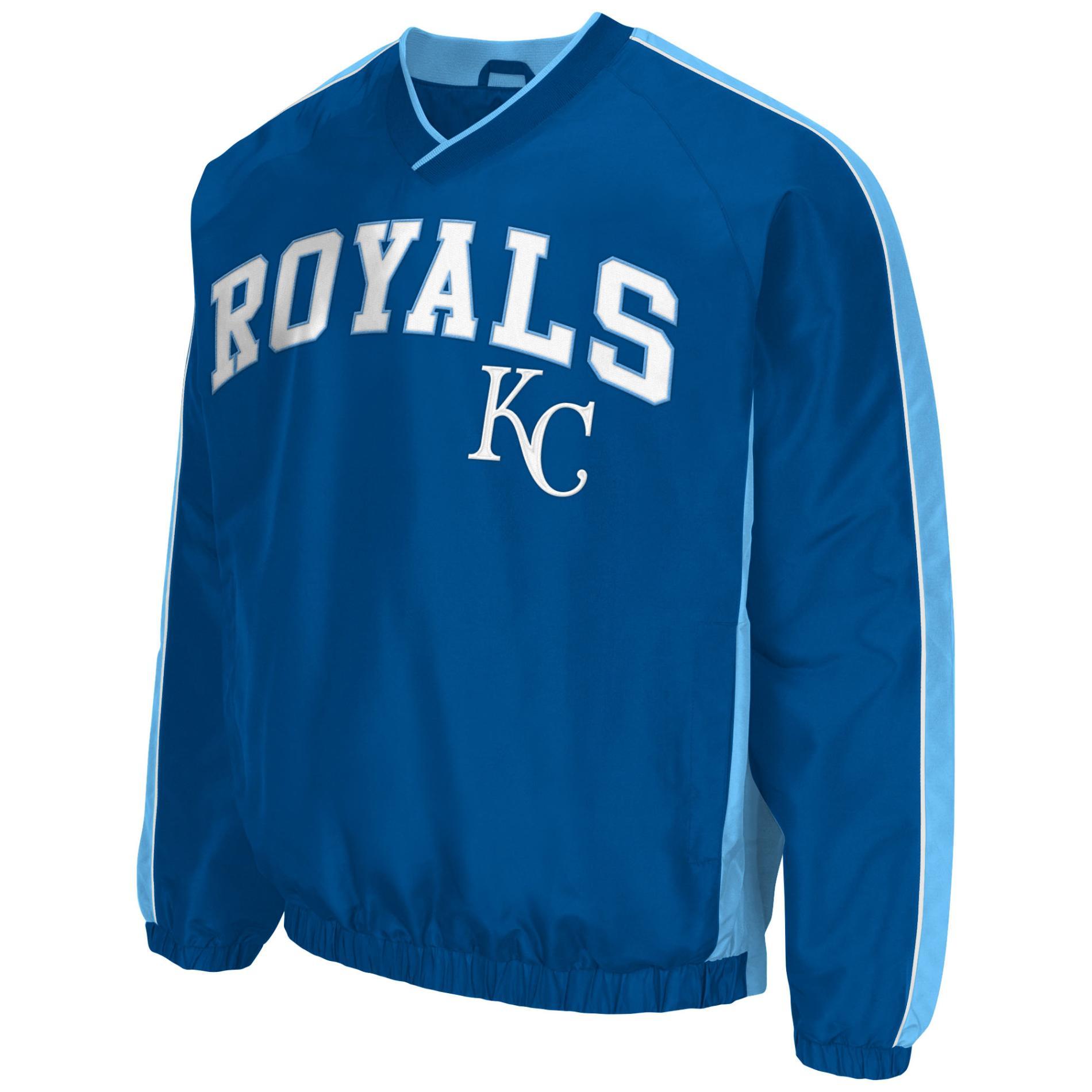 MLB Men's V-Neck Pullover Jacket - Kansas City Royals PartNumber: 046VA89398912P MfgPartNumber: LA650338