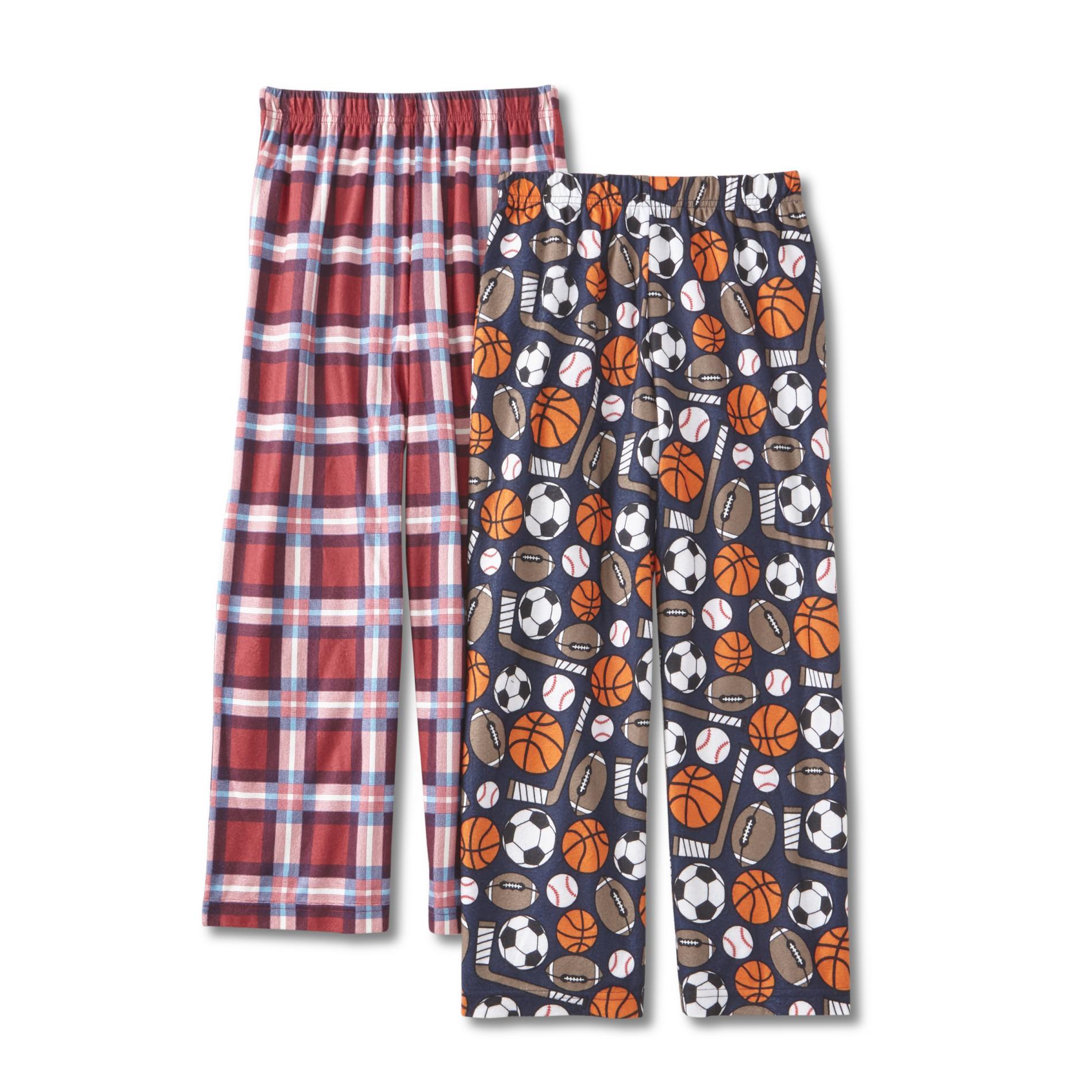 Joe Boxer Boys' 2-Pack Pajama Pants - Plaid & Sports, Size: Medium, Medival Blue im test
