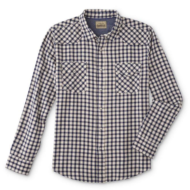c1eaa047 Roebuck & Co. Young Men's Western Shirt - Tattersall Plaid