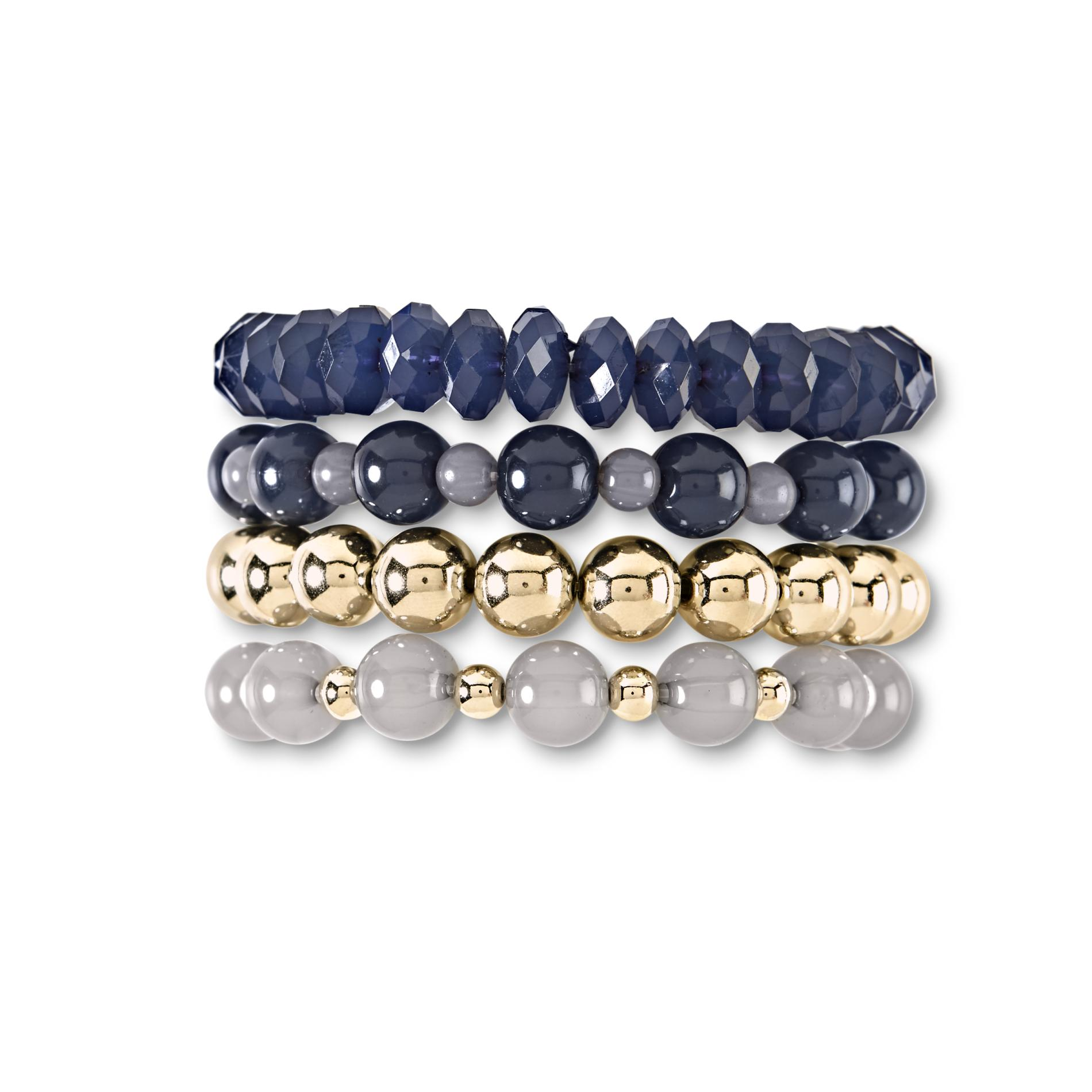 Jaclyn Smith Women's 4-Pack Stretch Bracelets
