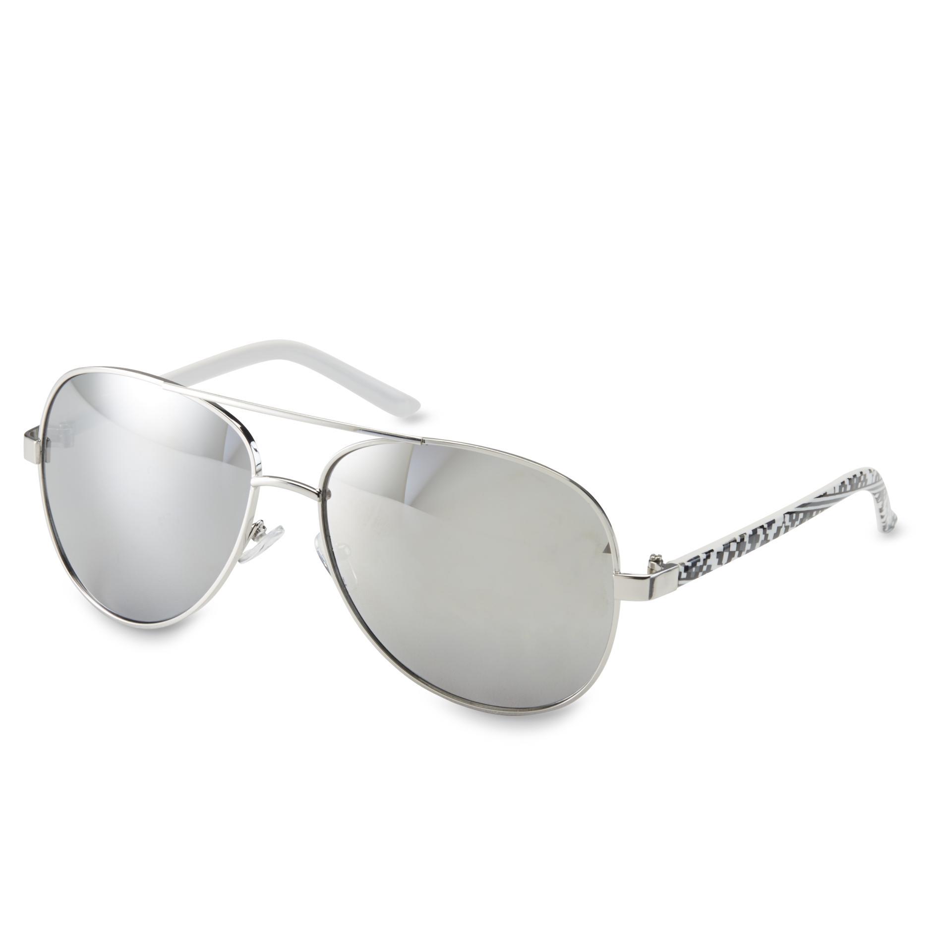 Joe Boxer Silvertone/Tribal Aviator Sunglasses