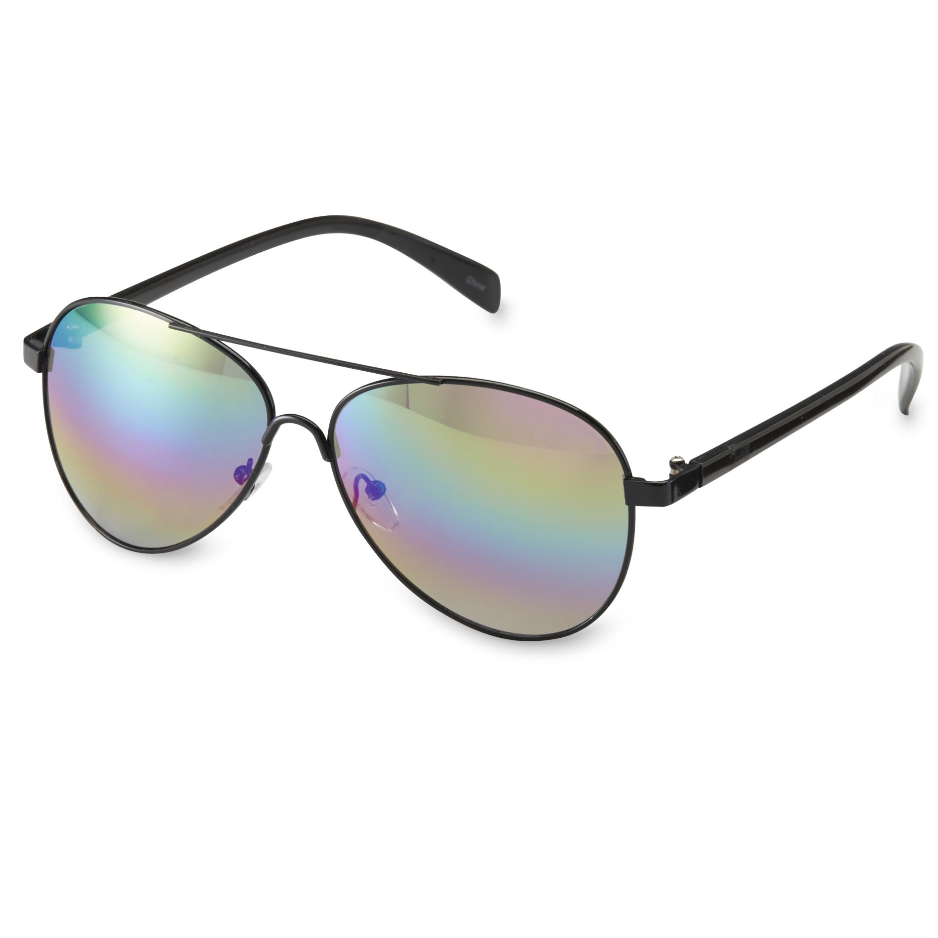 Joe Boxer Protect your eyes while you project slick style with these black aviator sunglasses
