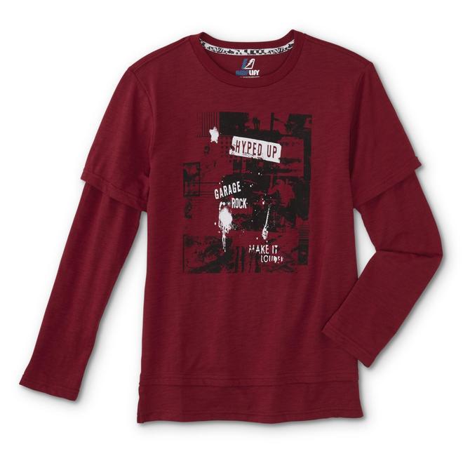 Shirt Amplify Layered Rock Boys' Look T Garage tCxBosQrhd