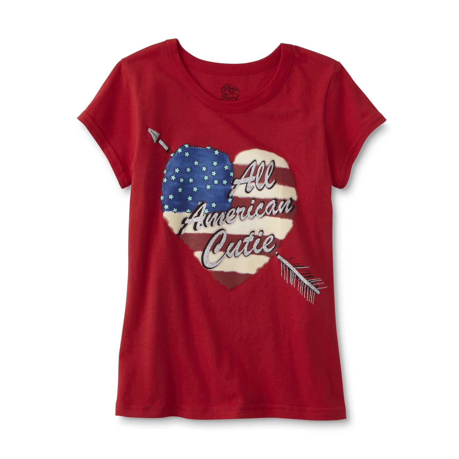 Girl's Graphic T-Shirt - American Cutie
