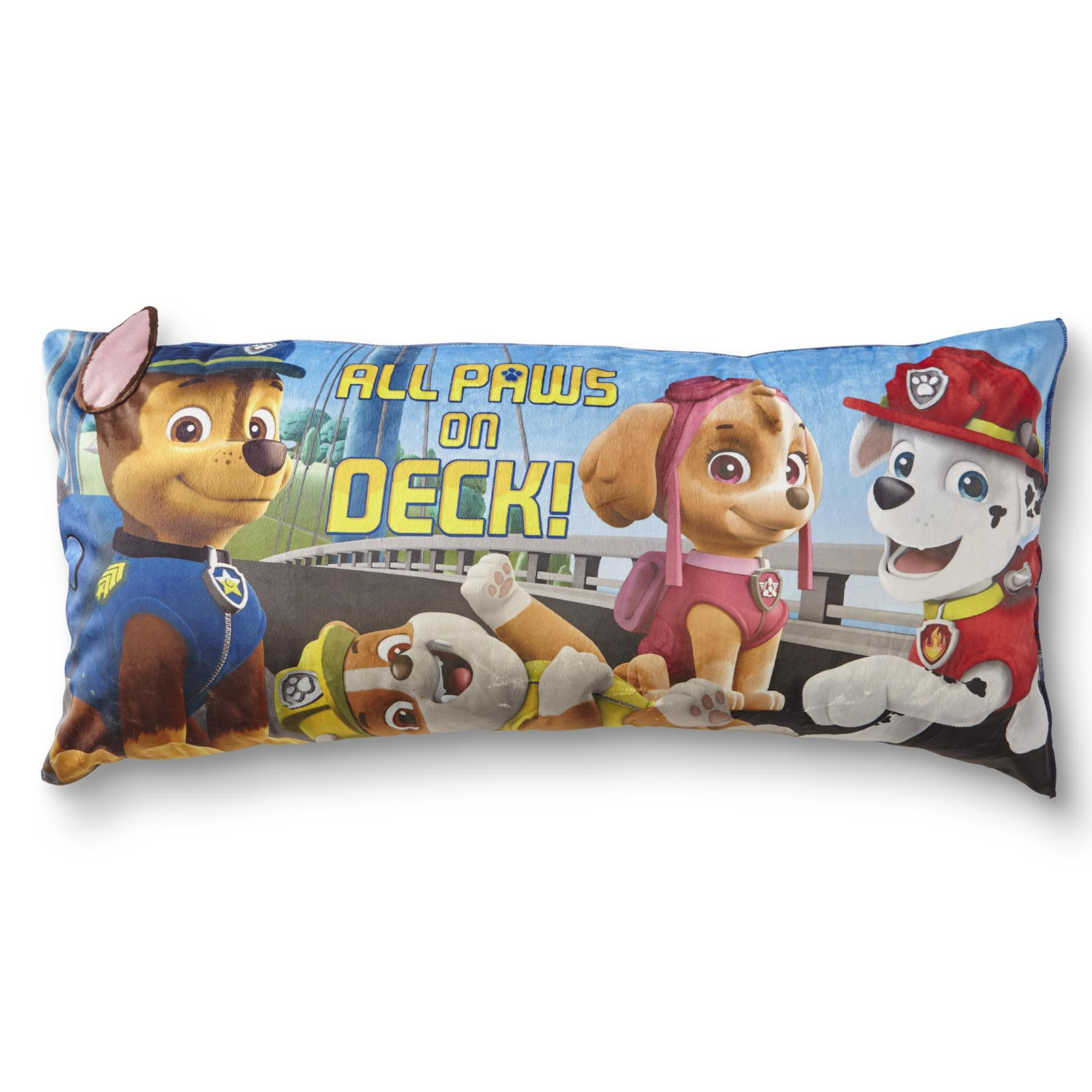 Nickelodeon Paw Patrol Kids Body Pillow All Paws On Deck