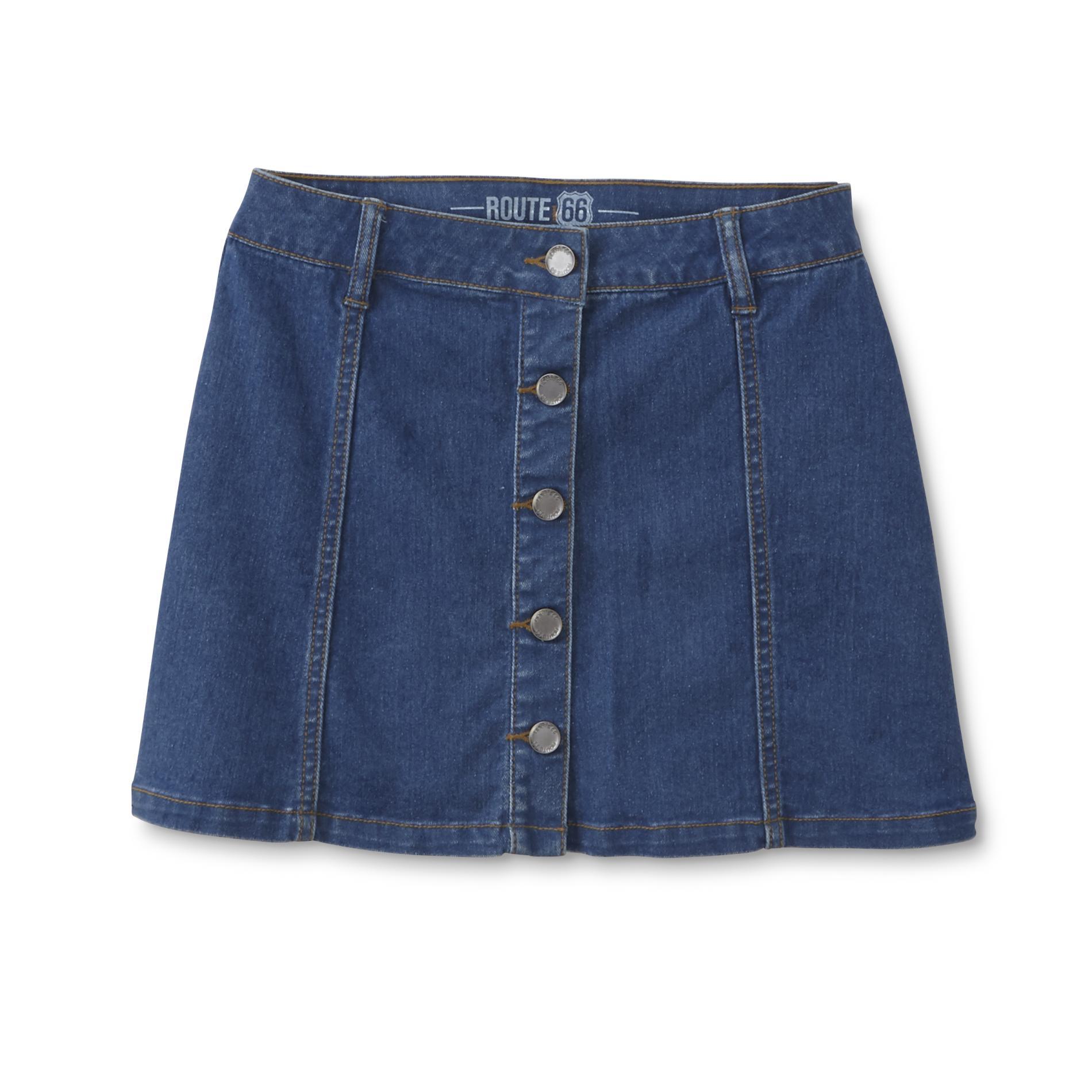 Route 66 Girl's Denim Skirt