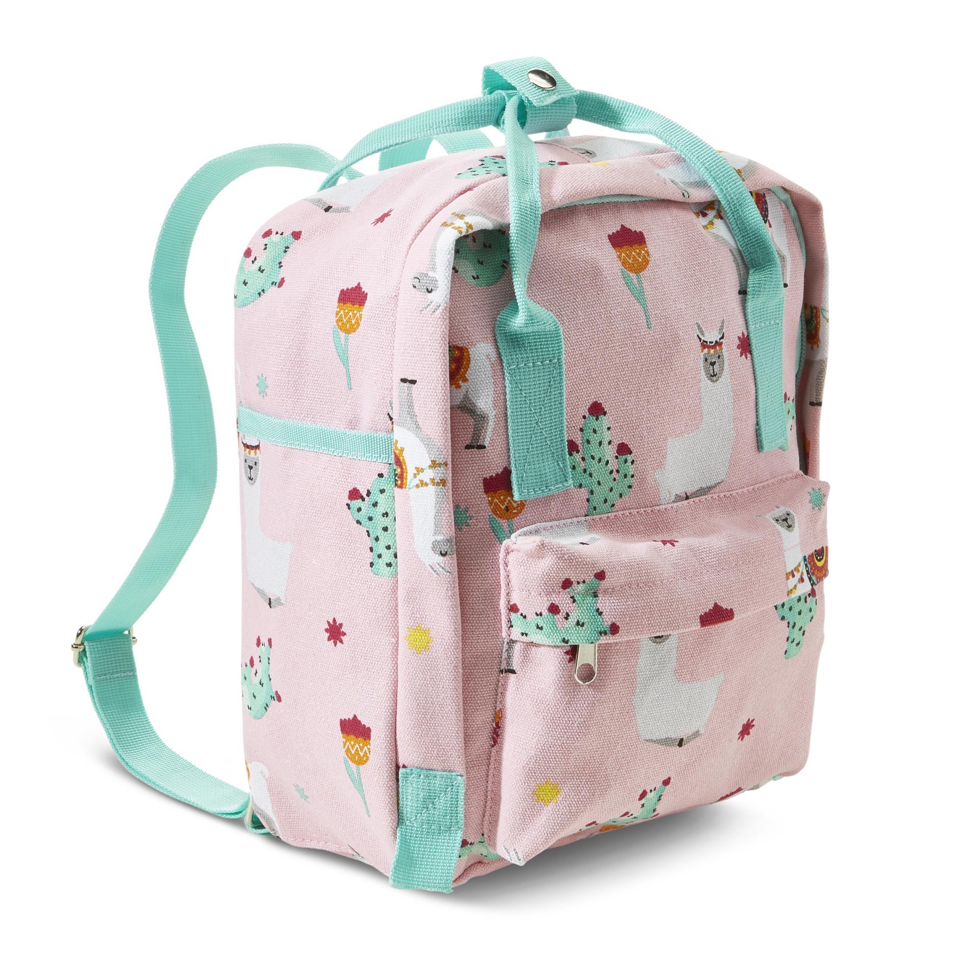 Juniors' Backpack Purse - Llama, Pink (030W001947403001 THB0164-K) photo