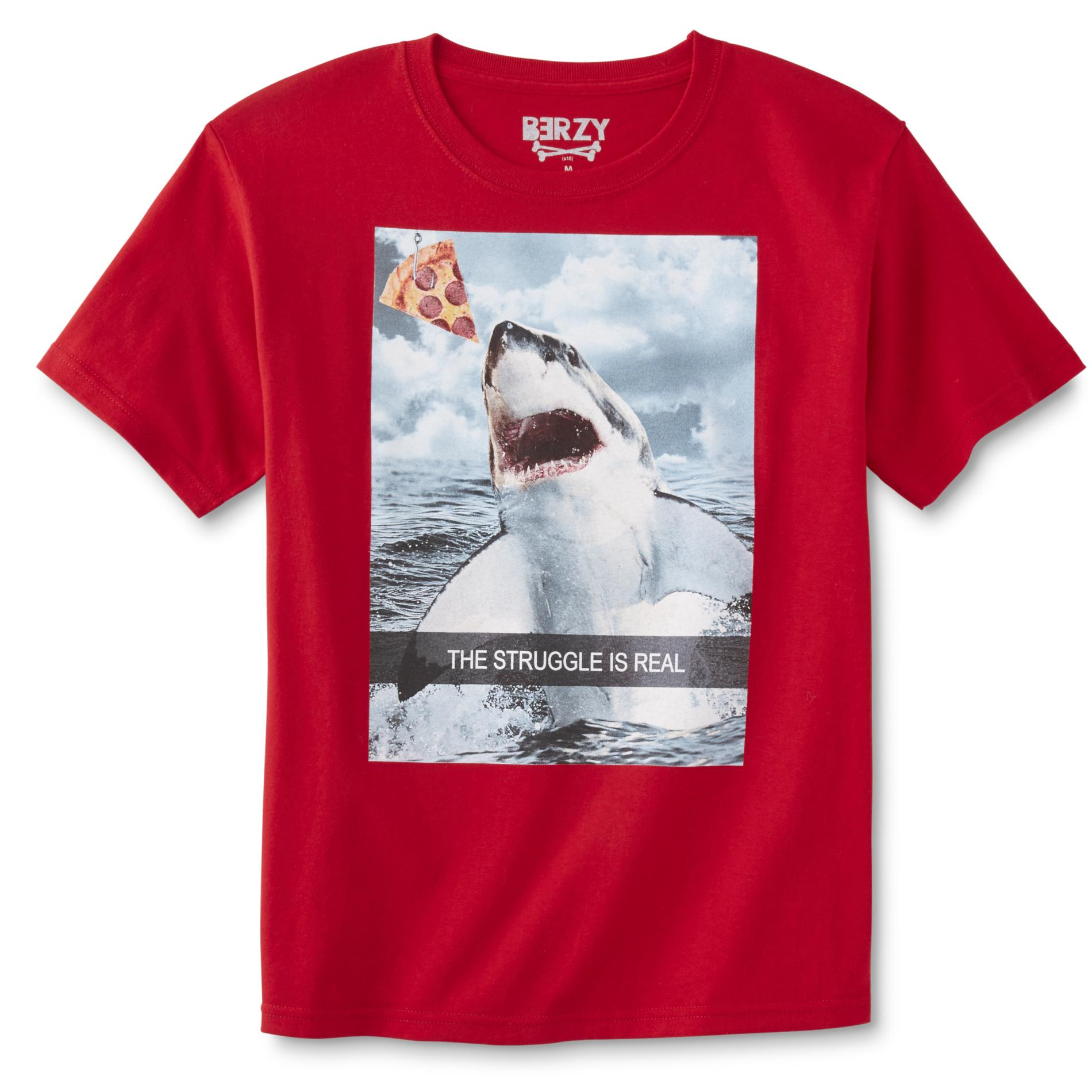 waterbury garment Boy's Graphic T-Shirt - The Struggle is Real, Size: Small, Red 049W007908385001