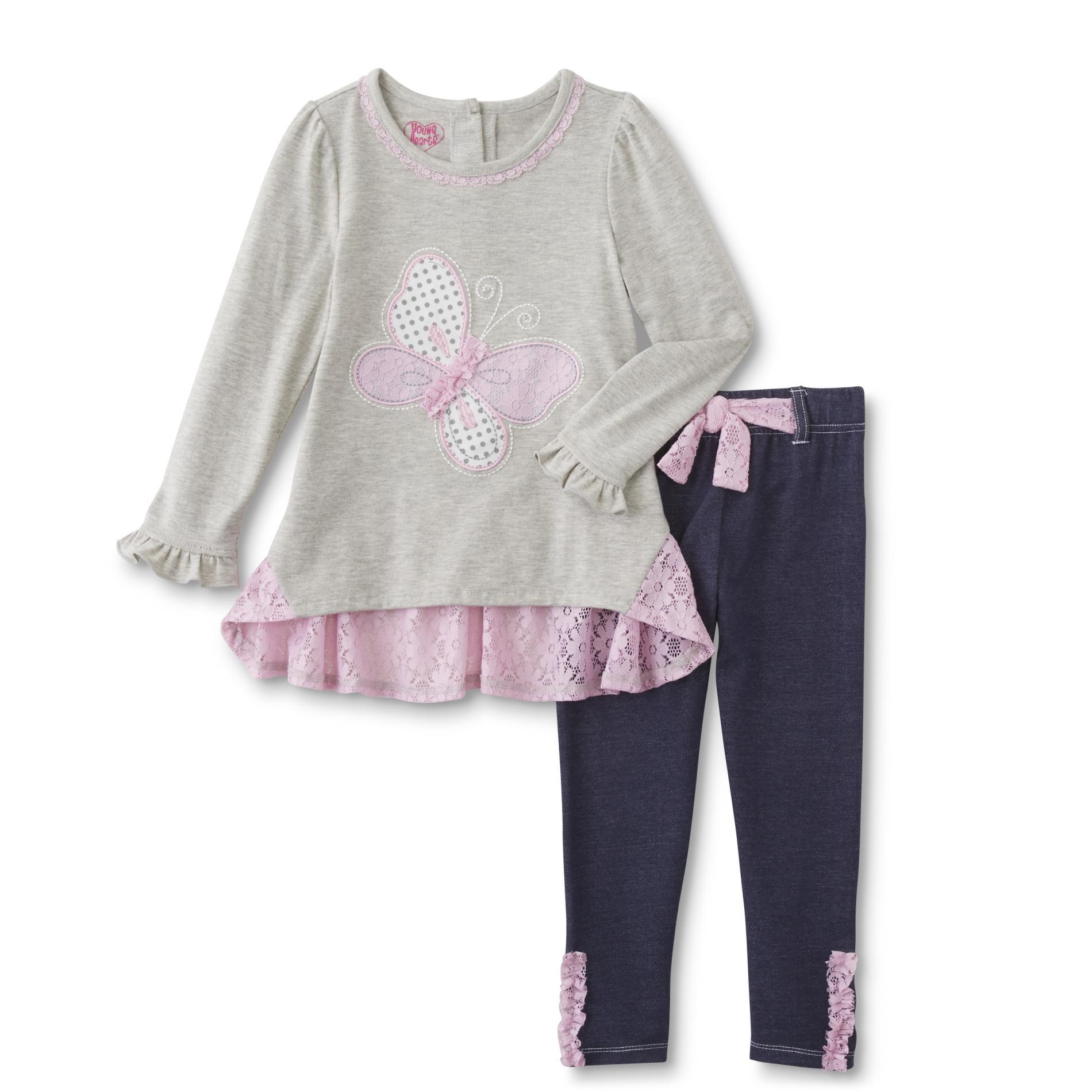 Infant & Toddler Girl's Long-Sleeve Top & Jeggings - Butterfly
