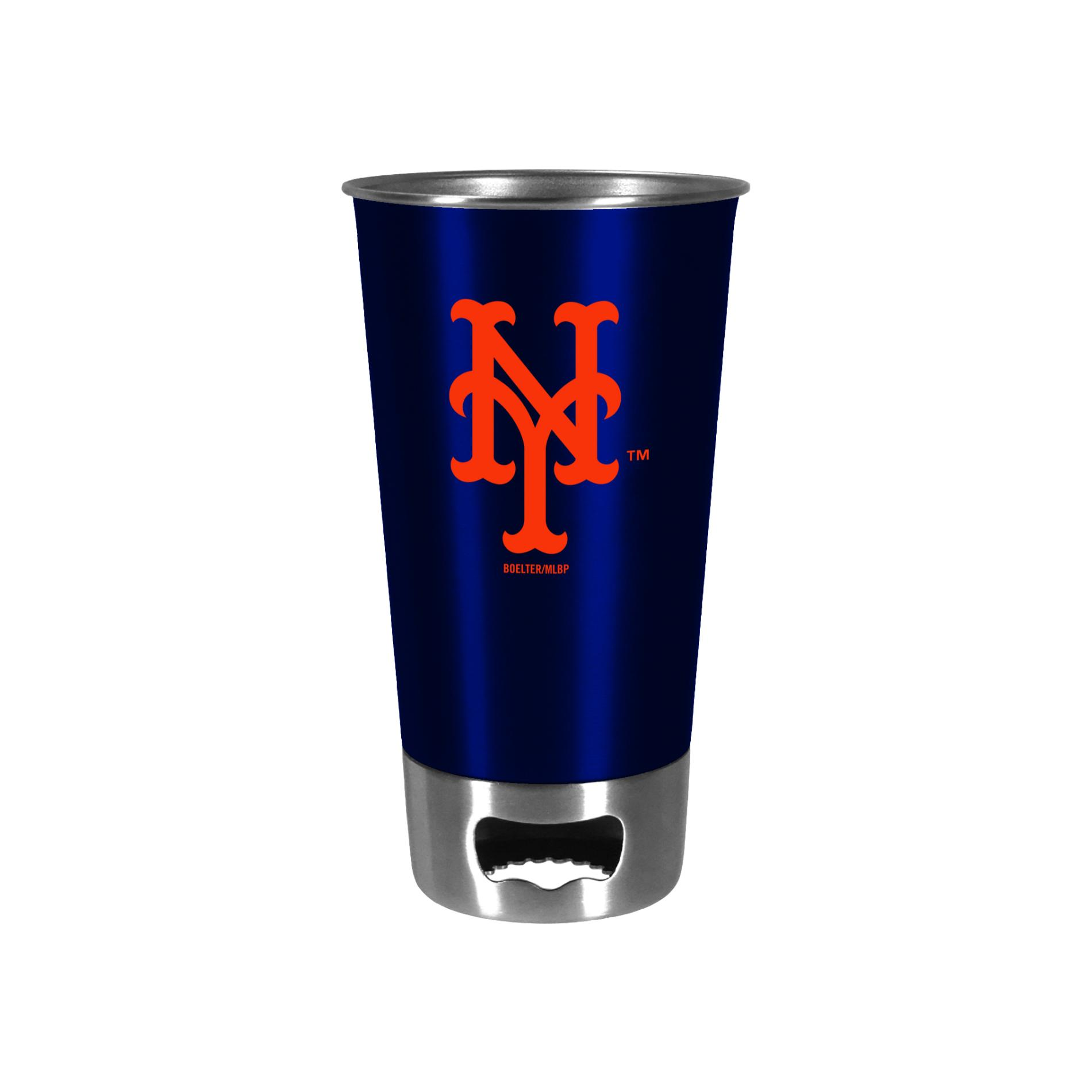 MLB Bottle Opener Metal Cup - New York Mets PartNumber: 046W001249298001P KsnValue: 1249298 MfgPartNumber: 380292
