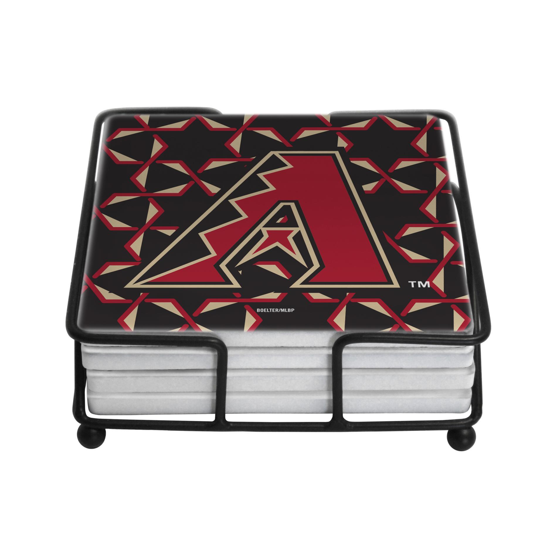MLB 4-Pack Coasters & Holder - Arizona Diamondbacks, Brown im test