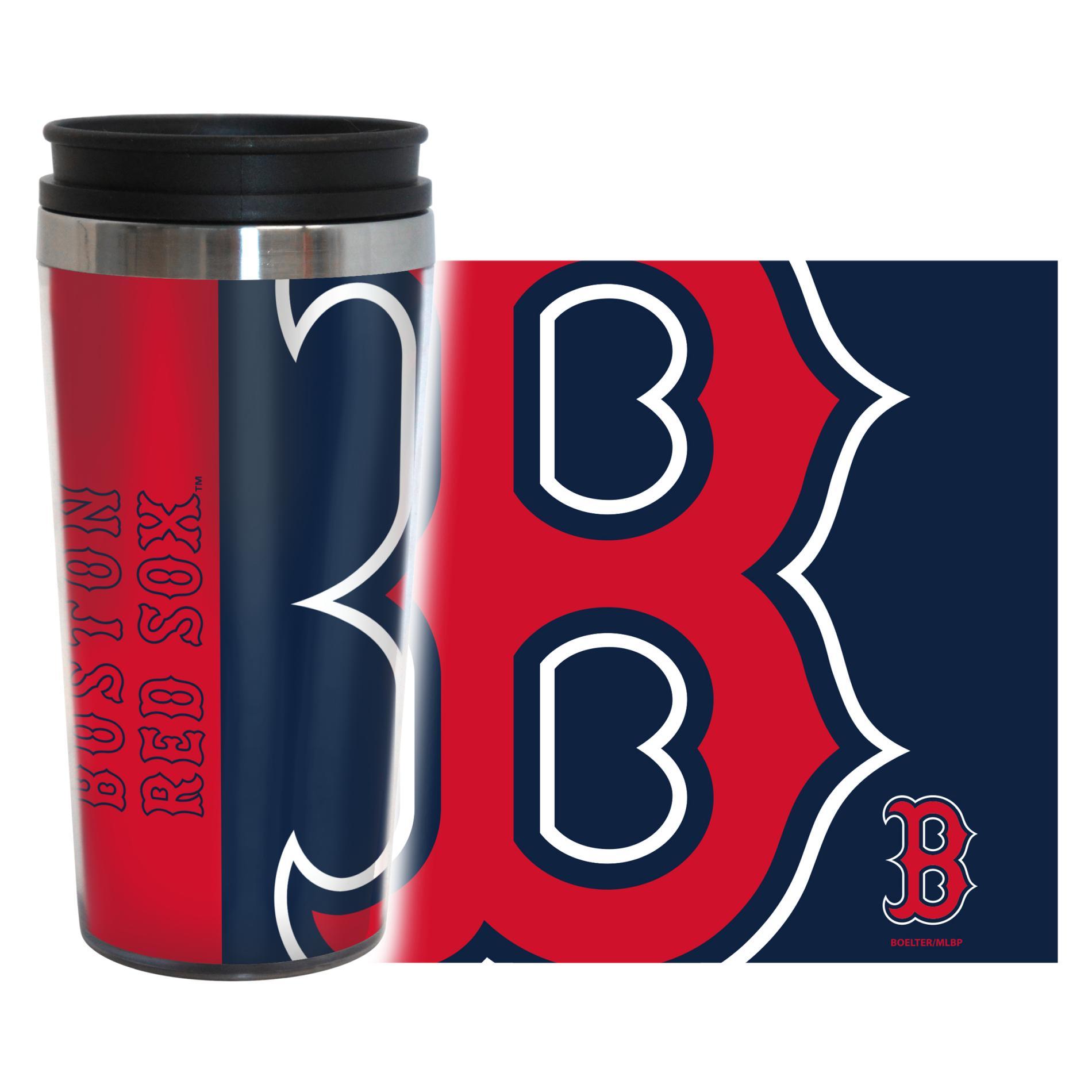 MLB Hype Travel Mug - Boston Red Sox PartNumber: 046W002656391001P KsnValue: 2656391 MfgPartNumber: 428160
