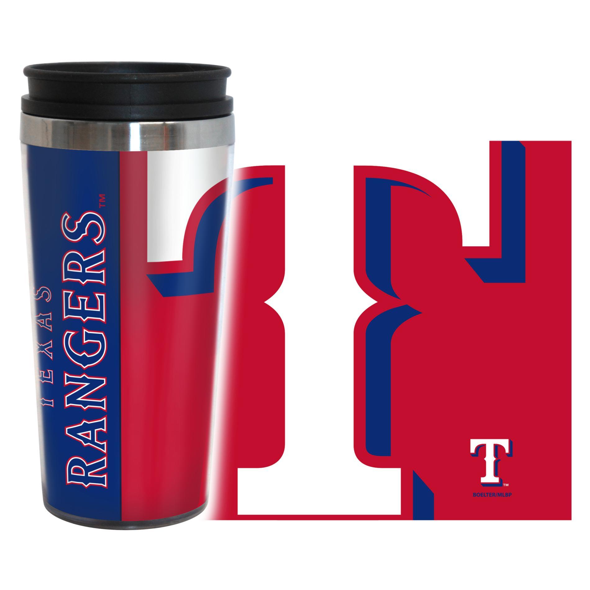 MLB Hype Travel Mug - Texas Rangers PartNumber: 046W002647790001P KsnValue: 2647790 MfgPartNumber: 428160