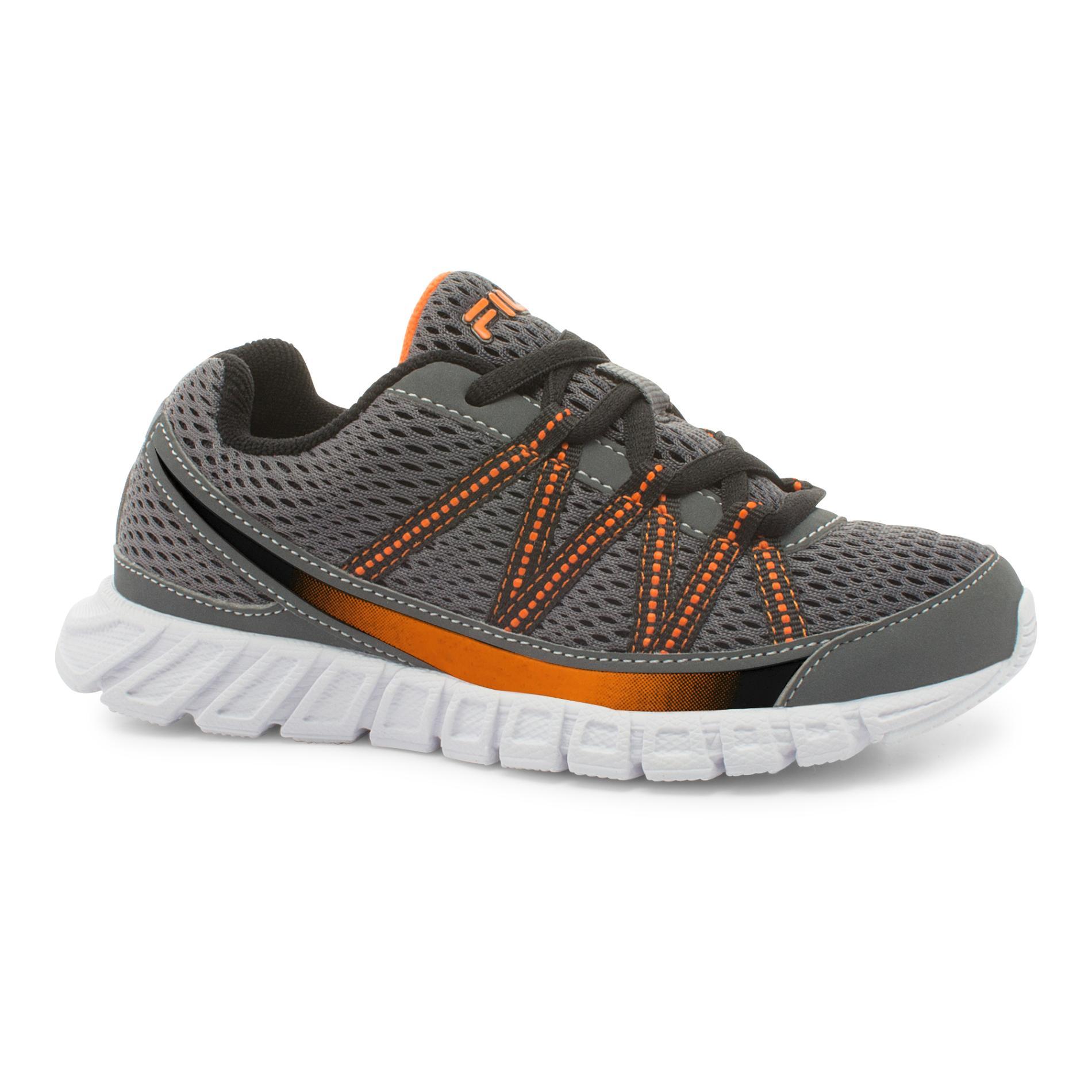 Fila Boy's Flicker Gray/Orange Running Shoe PartNumber: 036VA90169812P MfgPartNumber: 3SR21135