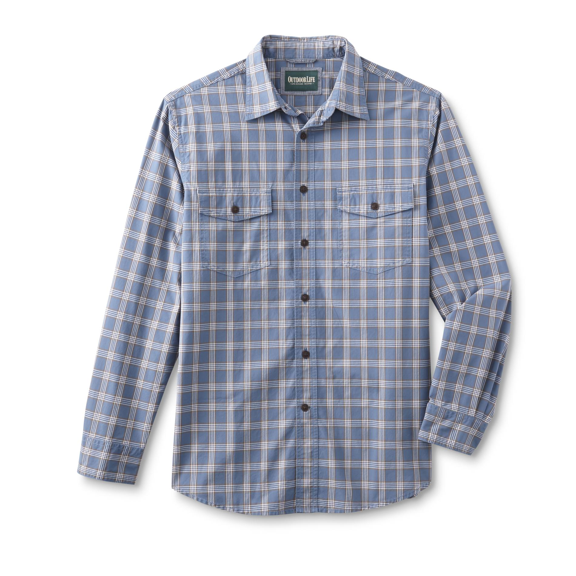 Outdoor life men 39 s big tall button front shirt plaid for Big and tall button up shirts
