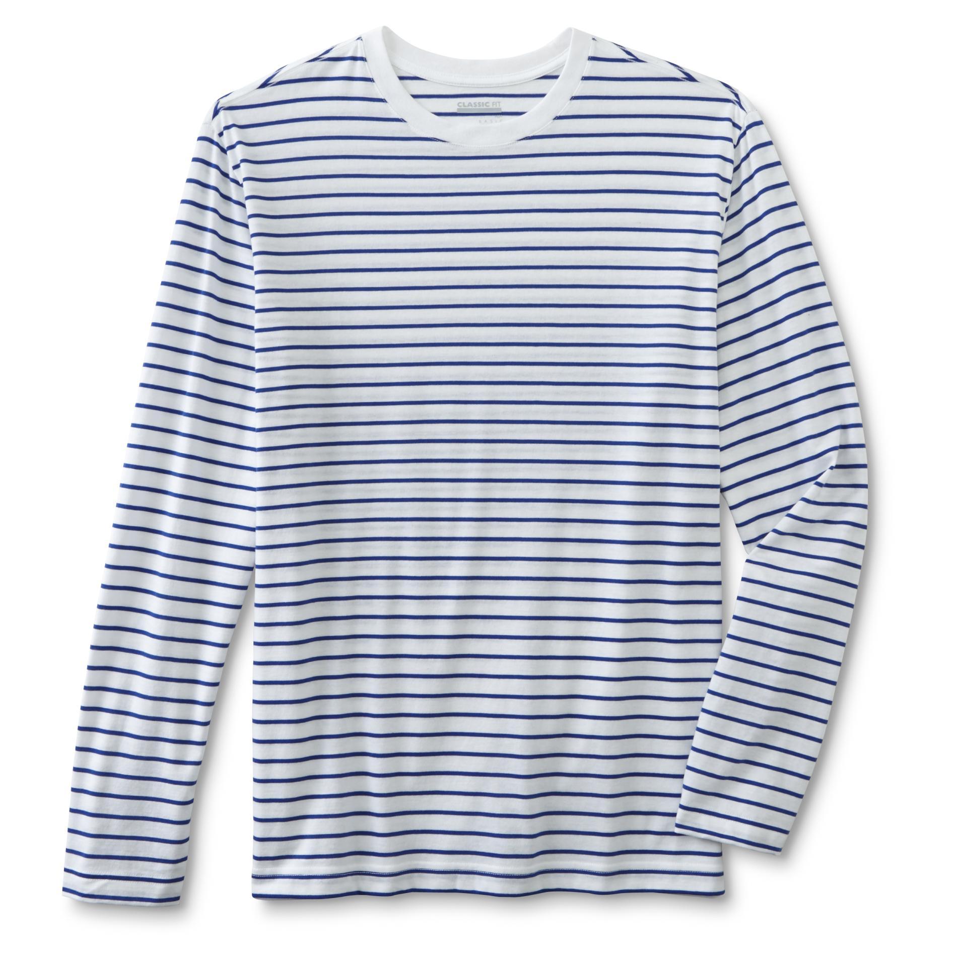 Basic Editions Men's Long-Sleeve T-Shirt - Striped