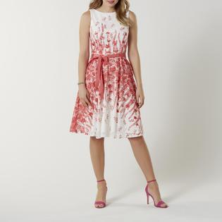 ad104925dd6 J Taylor Women s A-Line Dress   Belt - Floral
