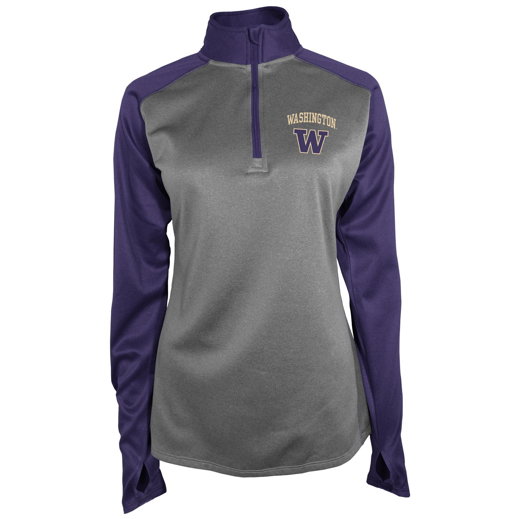 NCAA Women's Quarter-Zip Athletic Shirt - University of Washington PartNumber: 046VA90528612P MfgPartNumber: 7AL5G2AKMF