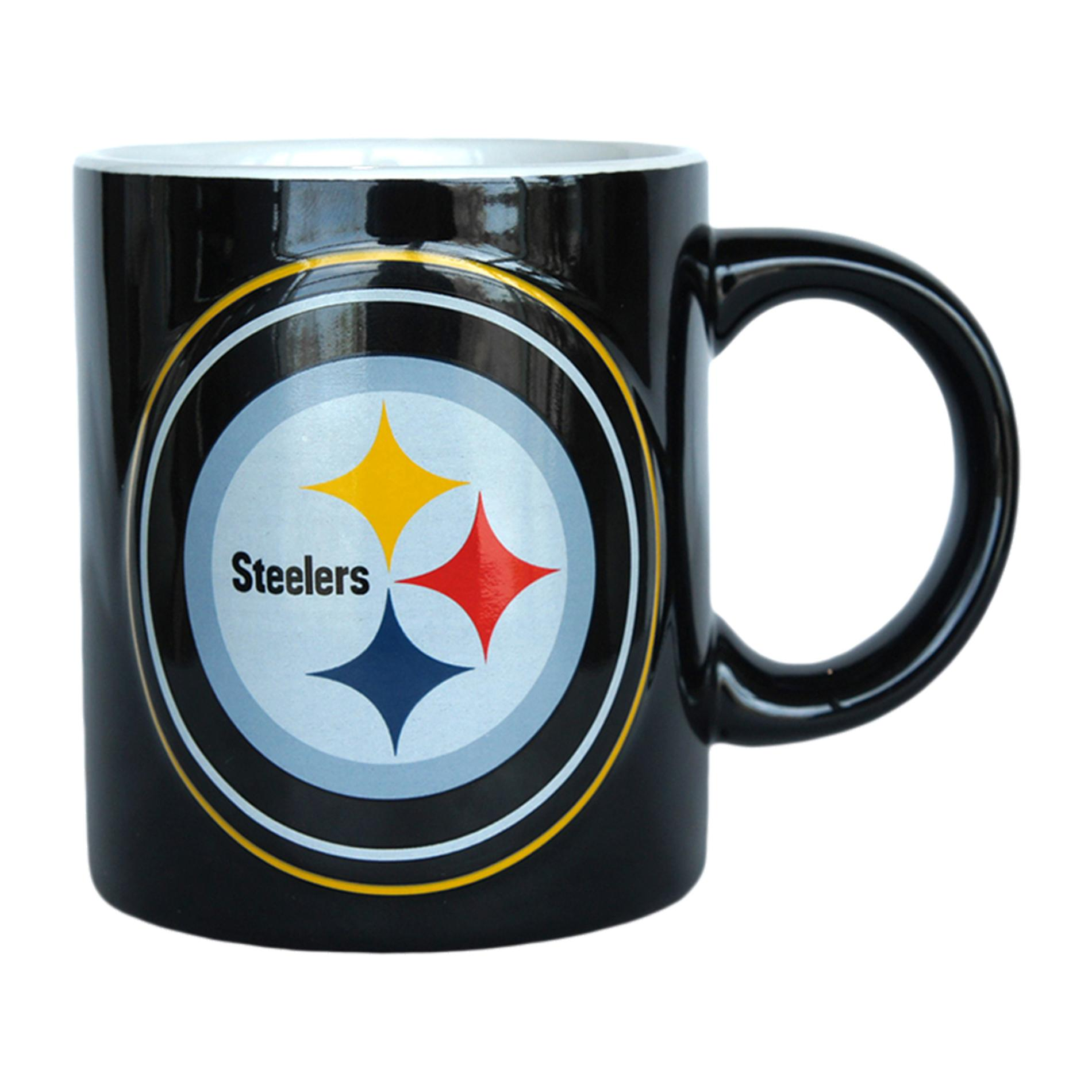 Pittsburgh Steelers Coffee Mug - 14oz Sculpted Warm Up PartNumber: 046W009310093001P