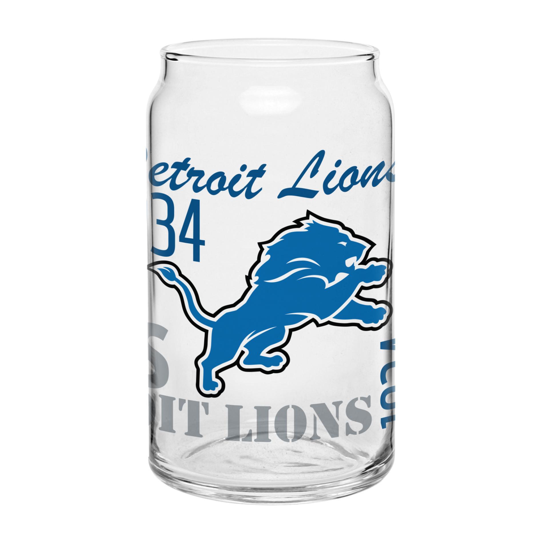 NFL Spirit Glass Can - Detroit Lions PartNumber: 046W003066195001P KsnValue: 3066195 MfgPartNumber: 319838