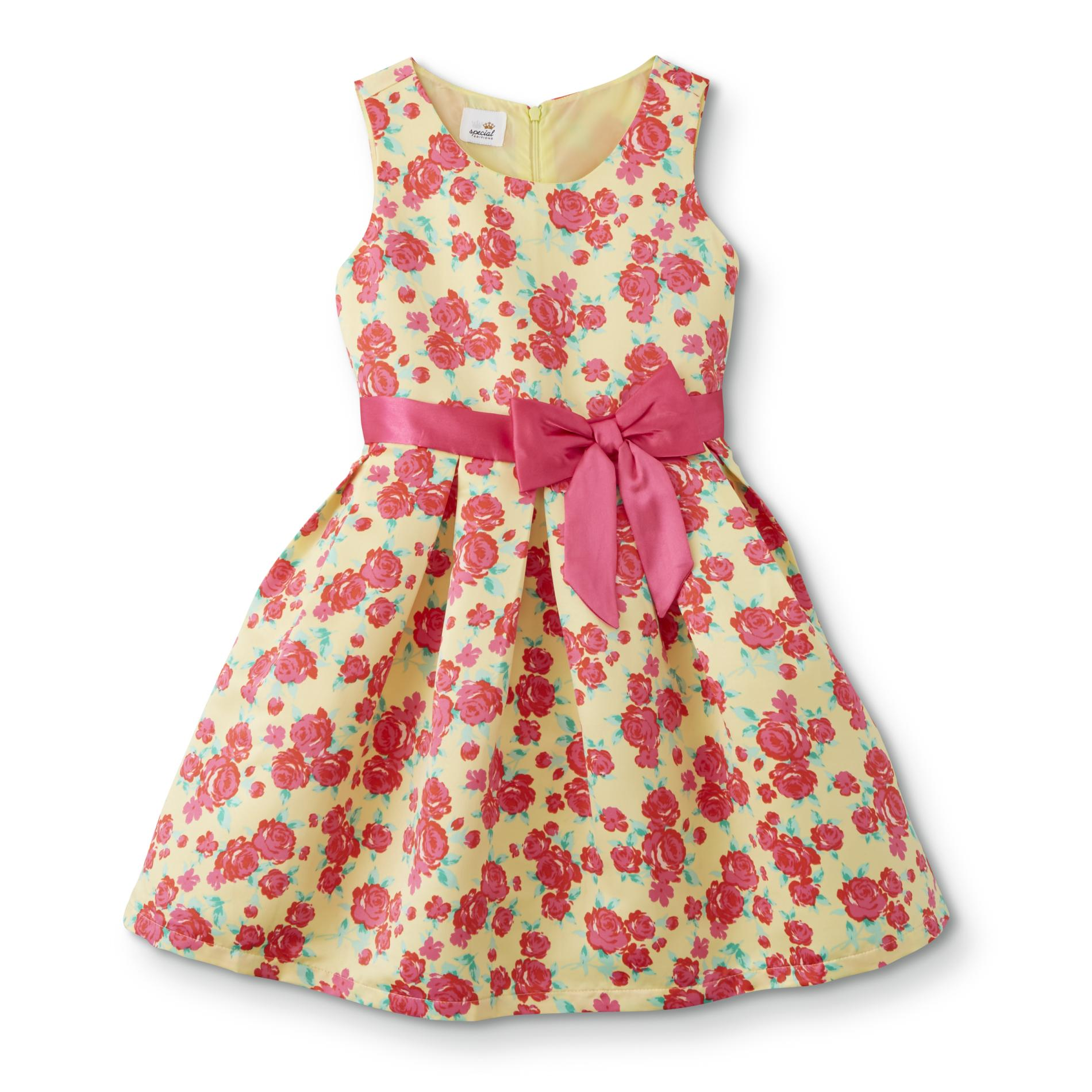 Special Editions Girls' Fit & Flare Party Dress - Floral, Size: XXL, Yellow im test
