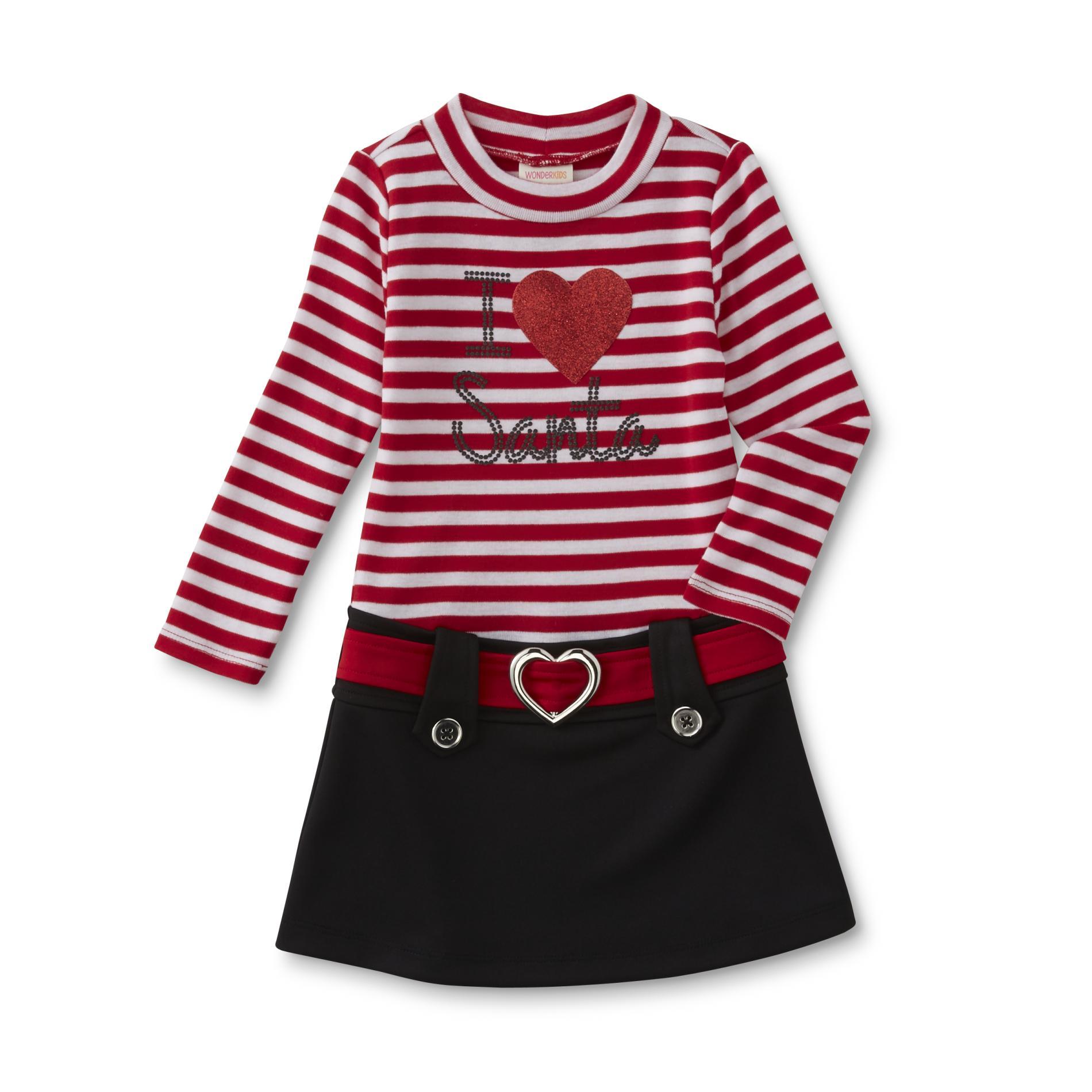Infant & Toddler Girl's Christmas Marsha Dress - Santa
