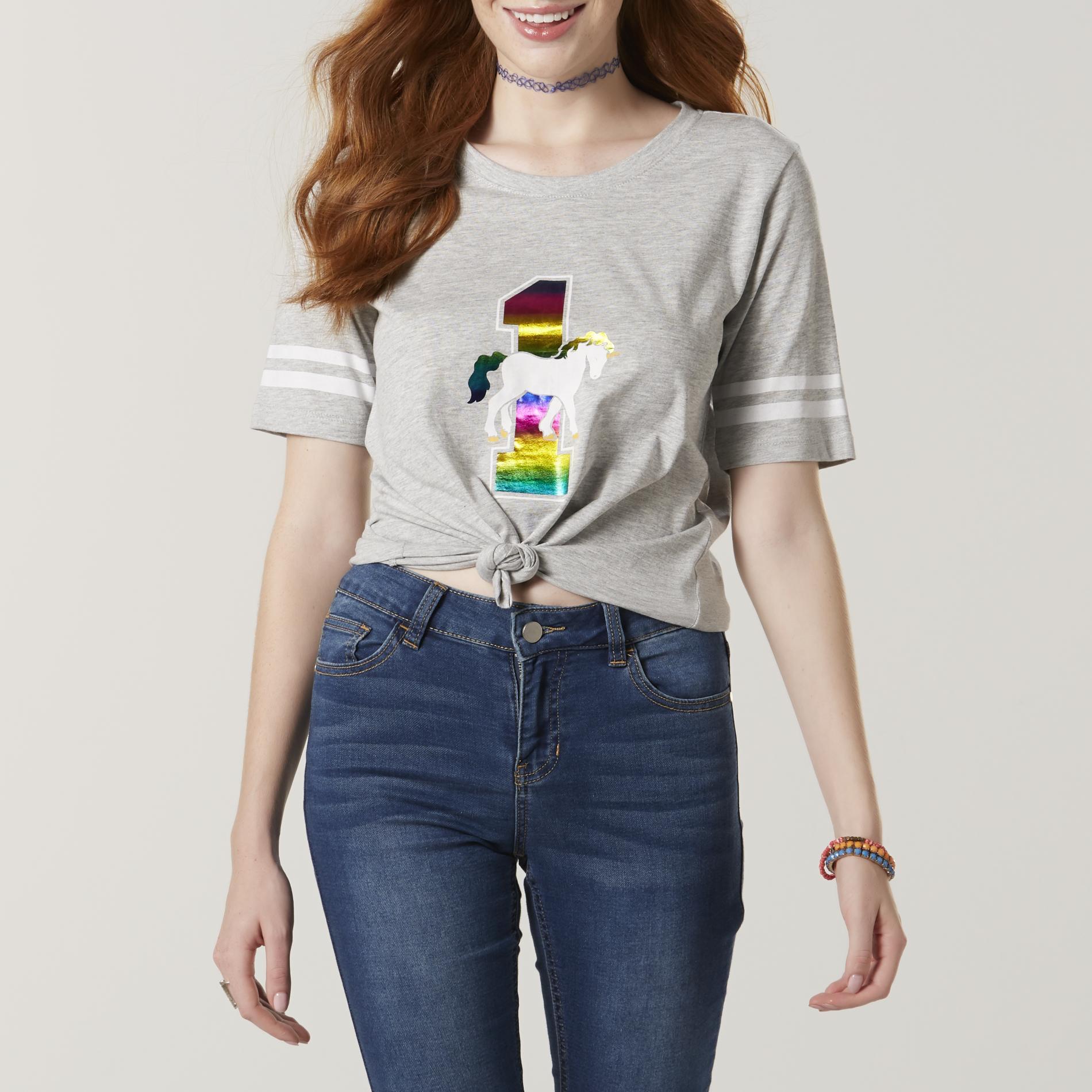 Joe Boxer Juniors' Graphic T-Shirt - Unicorn, Size: Small, Grey