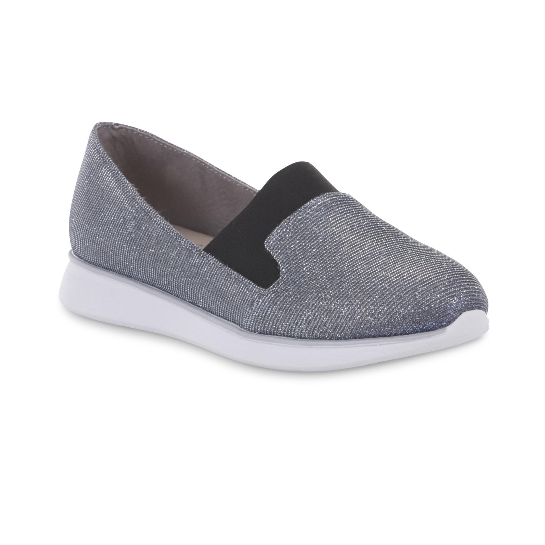 Basic Editions Women's Gunner Slip-On Sneaker - Grey Shimmer PartNumber: 035VA90831212P MfgPartNumber: 40799