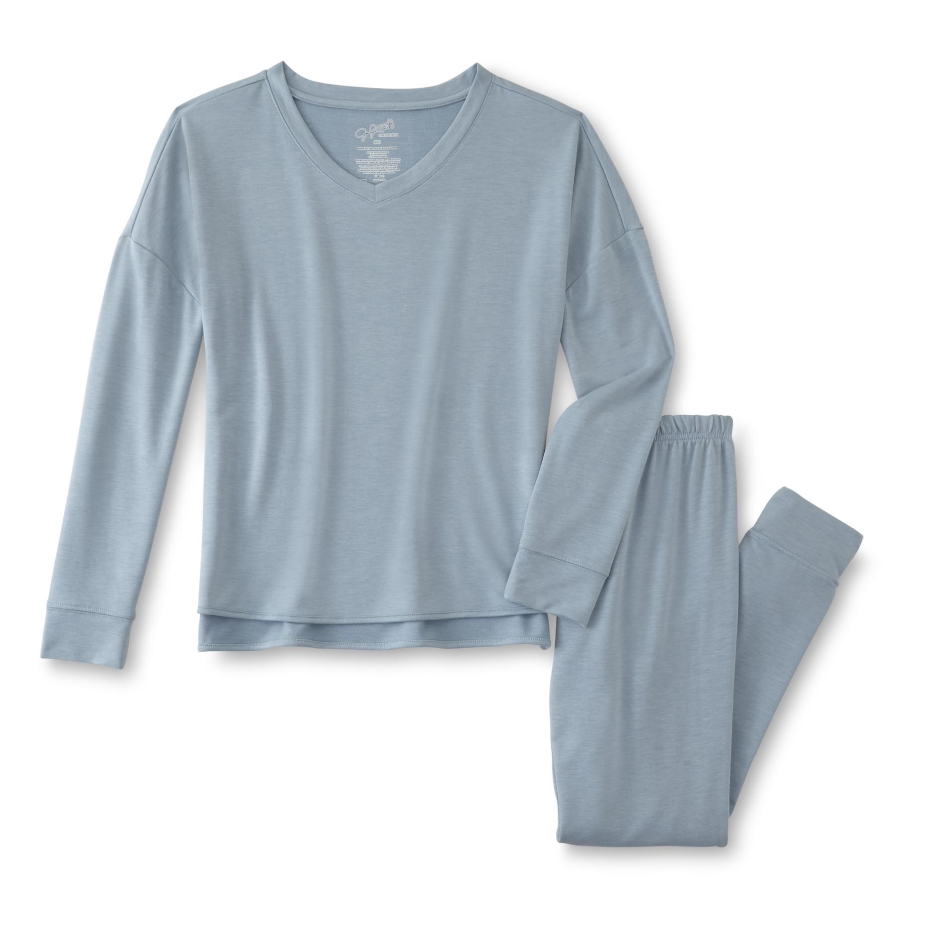 Jaclyn Smith Women's Long-Sleeve Pajama Shirt & Pants, Size: XL, Tourmaline im test