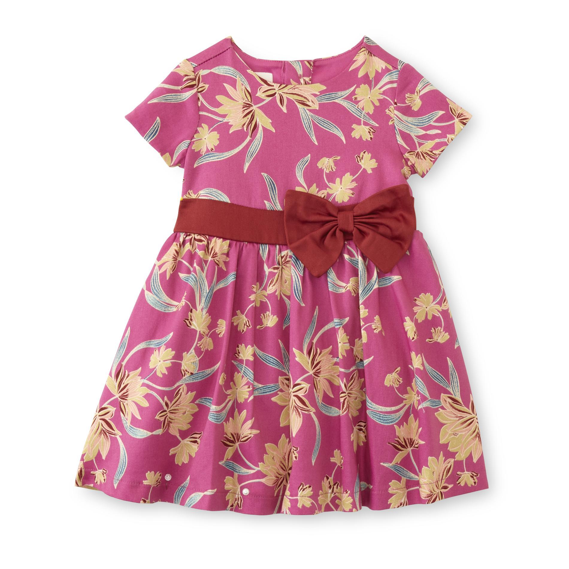 Spencer Infant Girls' Skater Dress - Floral, Size: 9-12 Months, Rose Violet im test