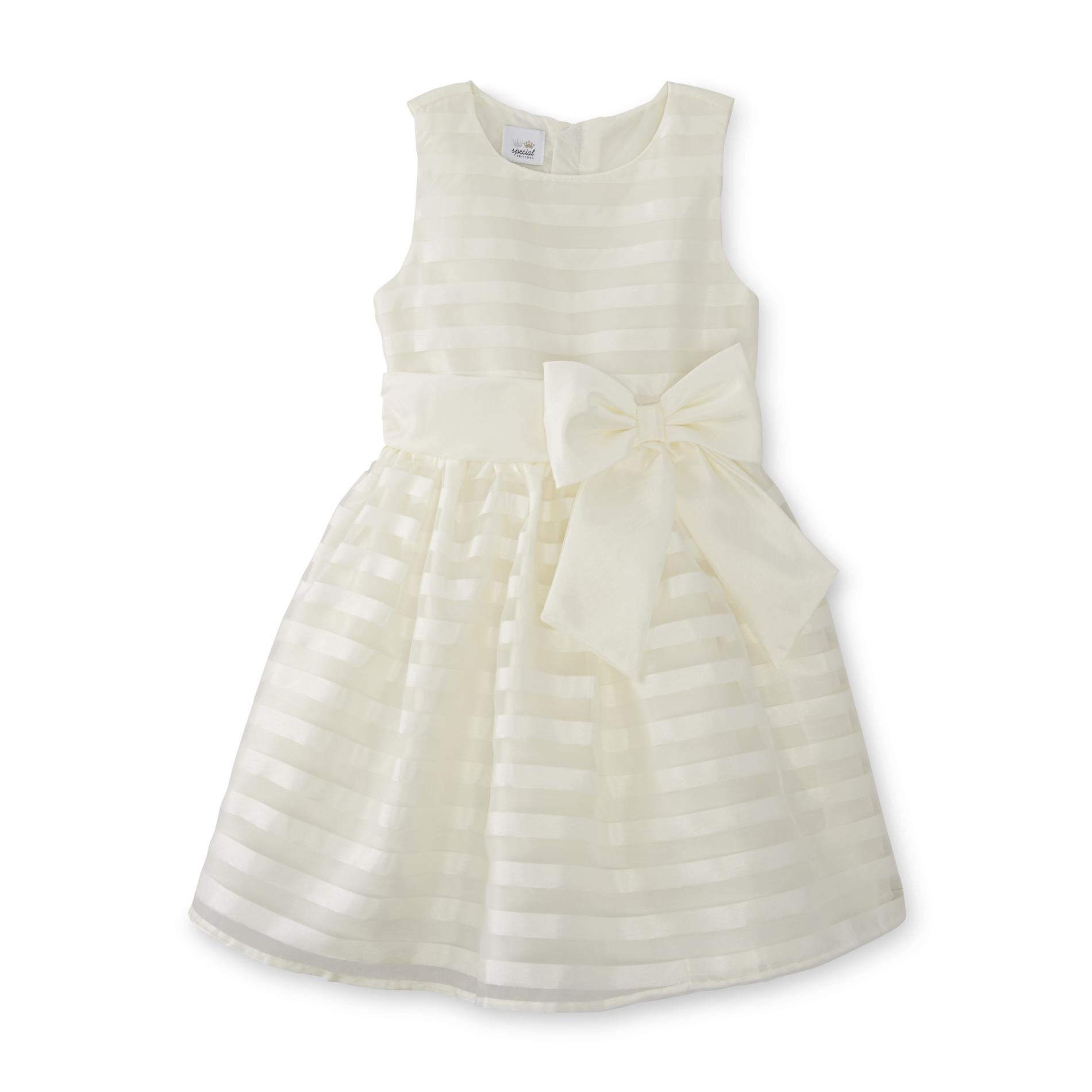 Special Editions Girls' Party Dress - Striped, Size: 7, Yellow im test