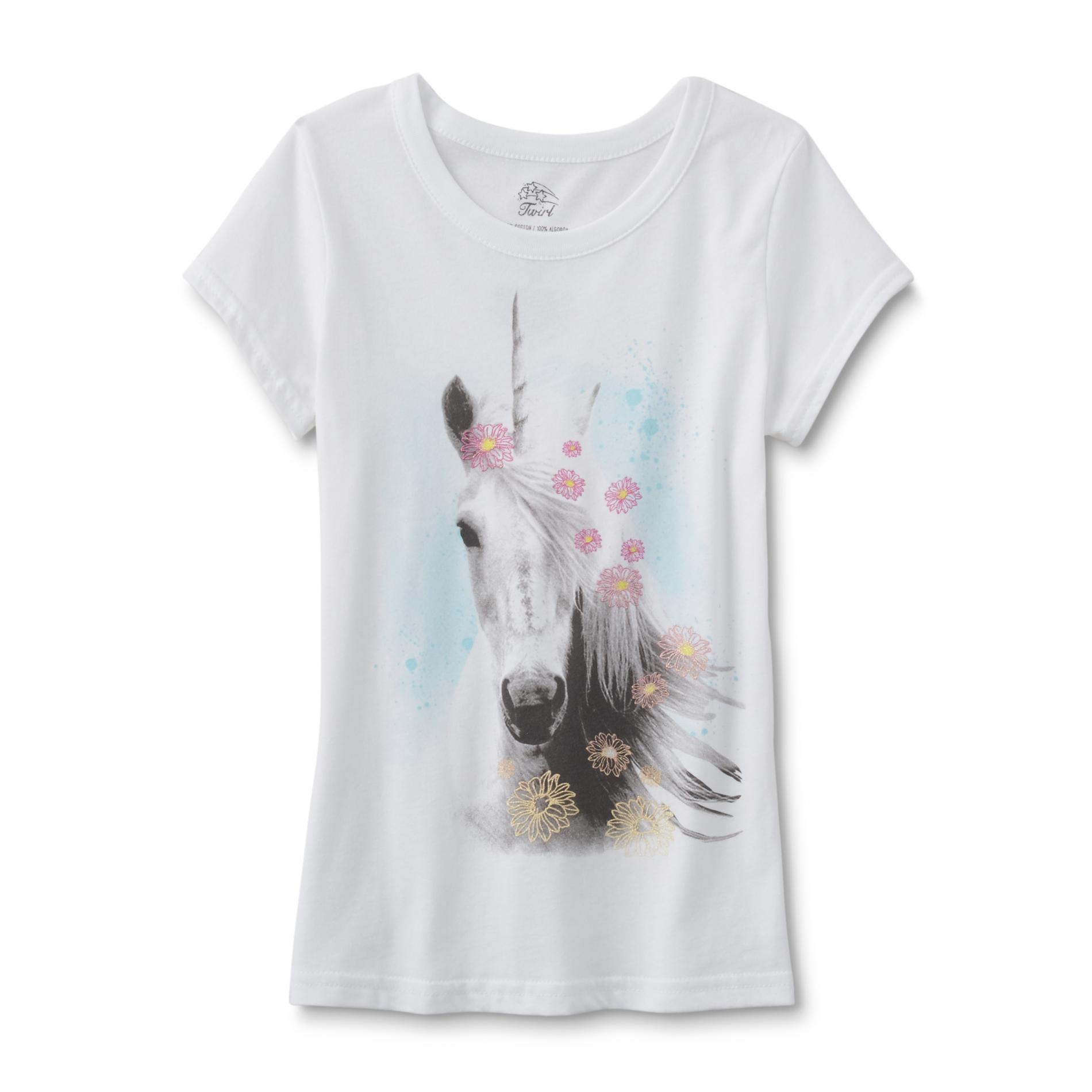 Girls' Graphic T-Shirt - Unicorn