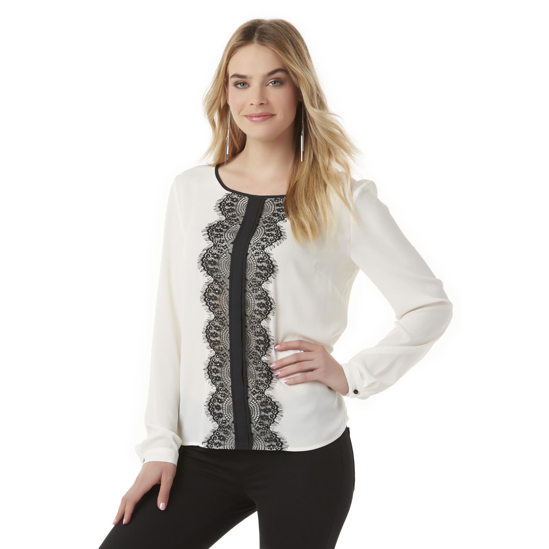 Women's Chiffon Blouse - Lace