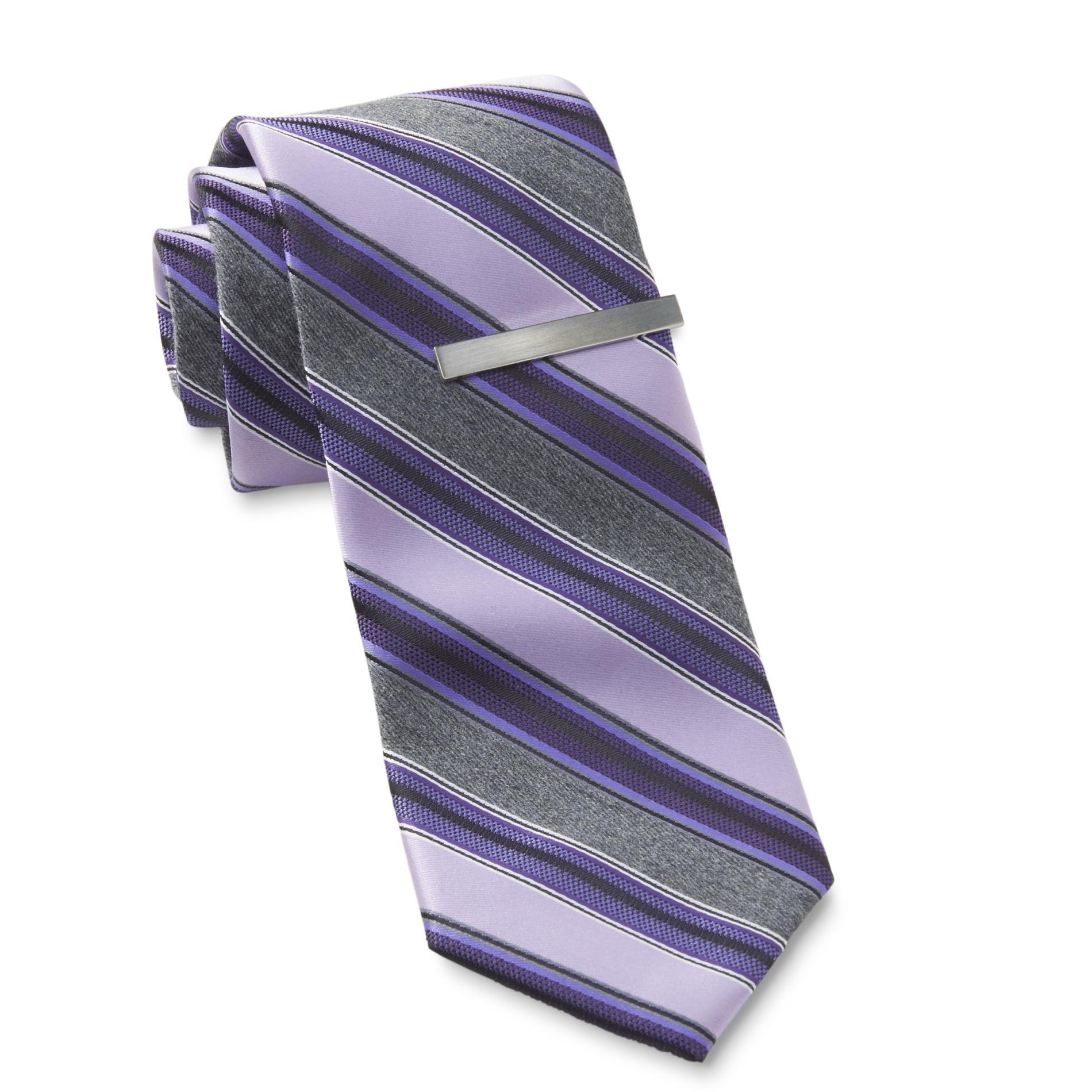 Structure Men's Necktie & Tie Bar - Striped PartNumber: 045VA91429512P MfgPartNumber: 64117001
