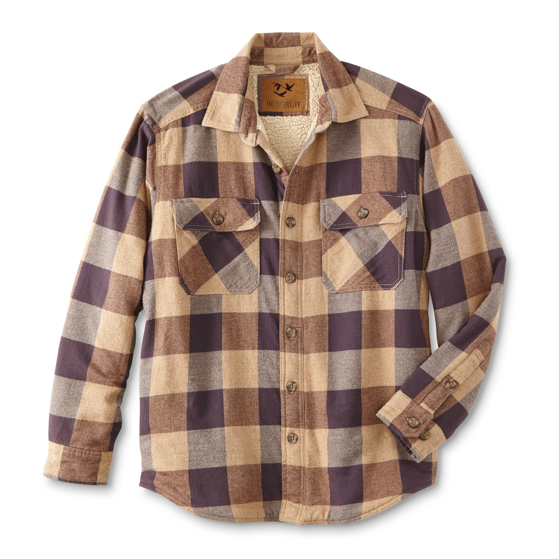 Outdoor Life Mens Flannel Shirt Jacket Plaid Size Xl Mood
