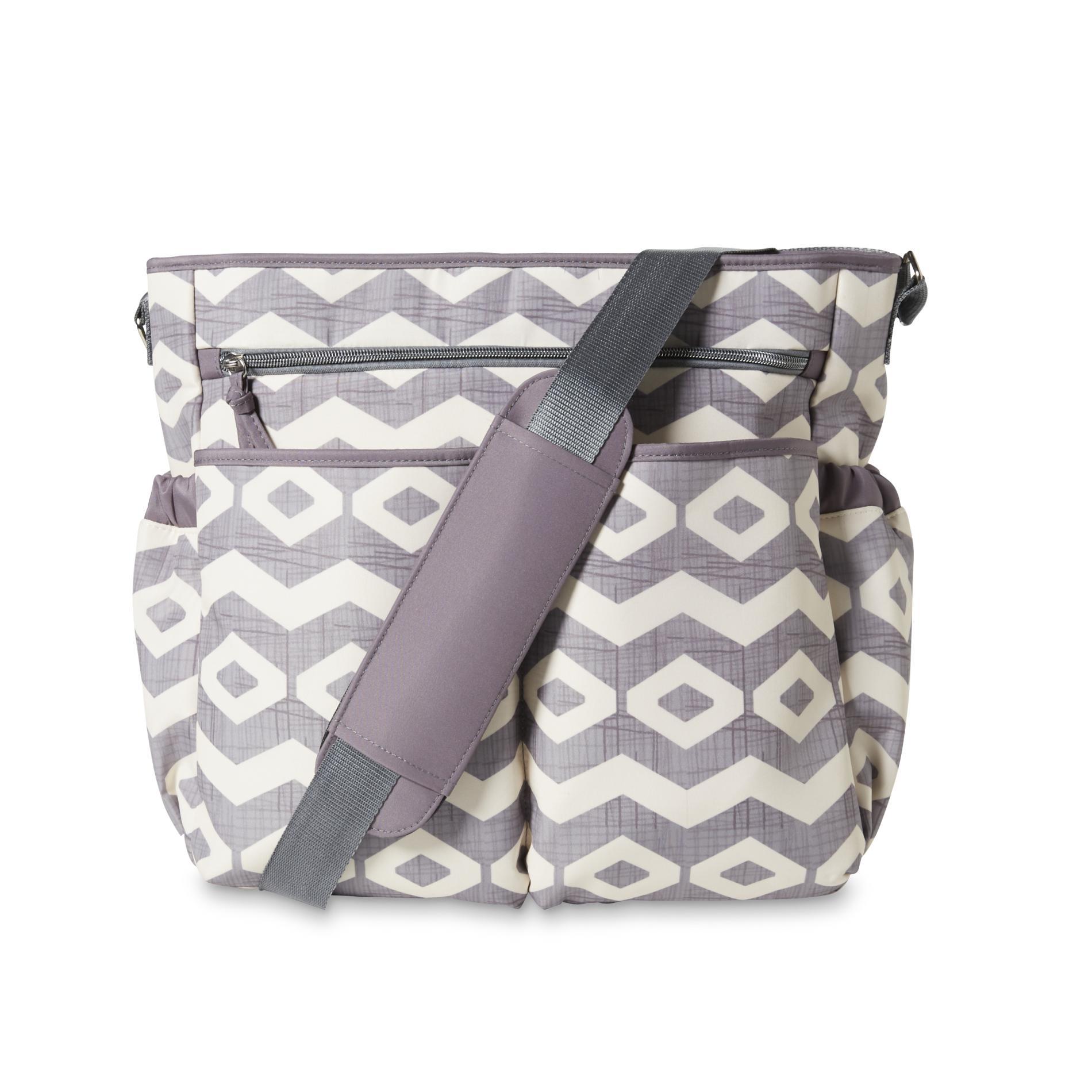 baby essentials diaper bag changing pad chevron diamond sears. Black Bedroom Furniture Sets. Home Design Ideas